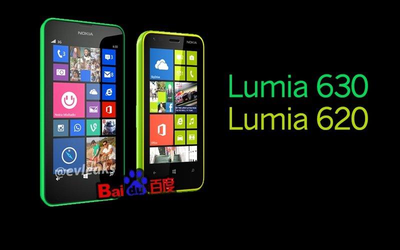 Foto Nokia Lumia 630 y Nokia Lumia 620 fondo negro