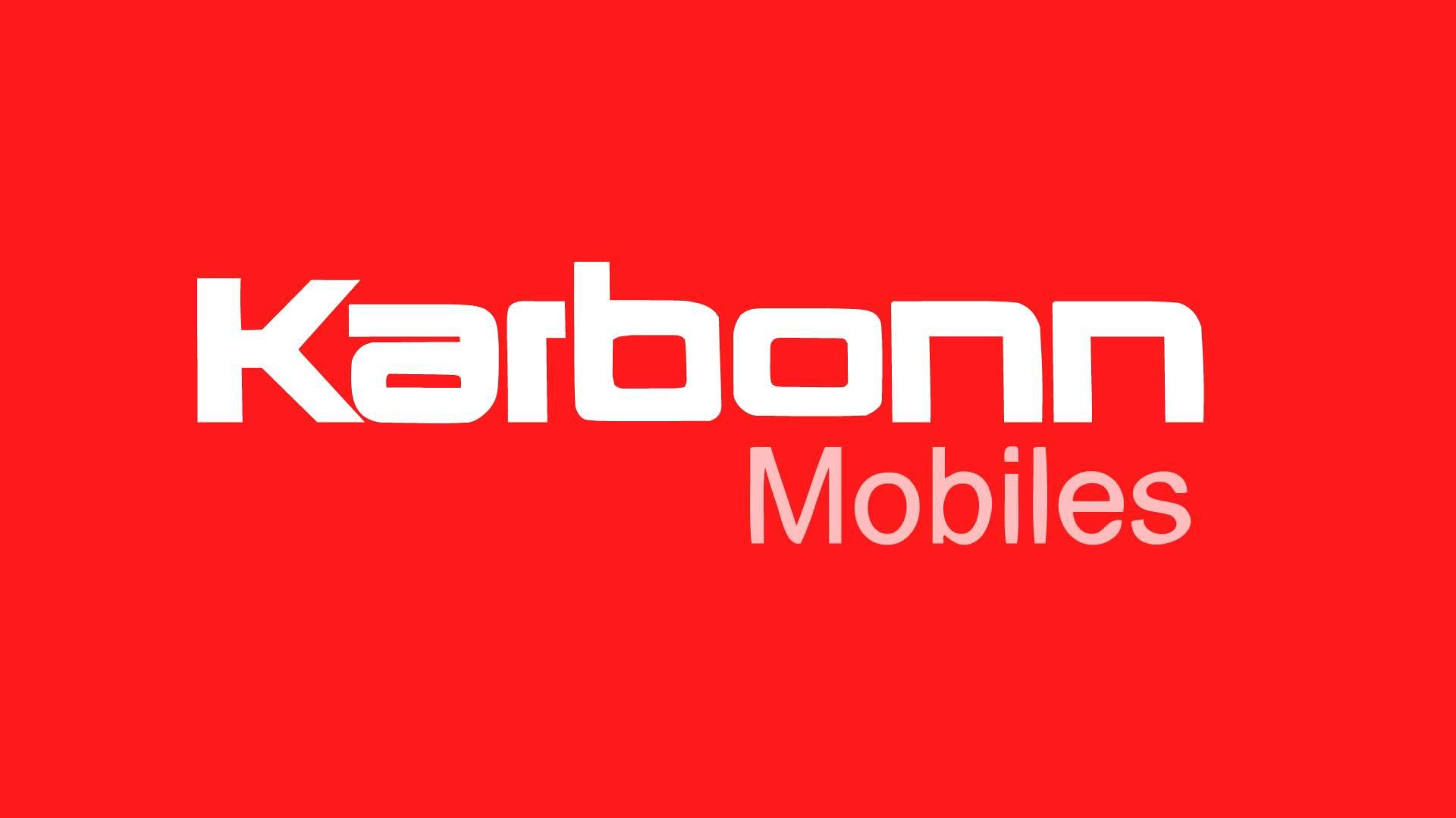 Logo Karbonn mobiles rojo y blanco