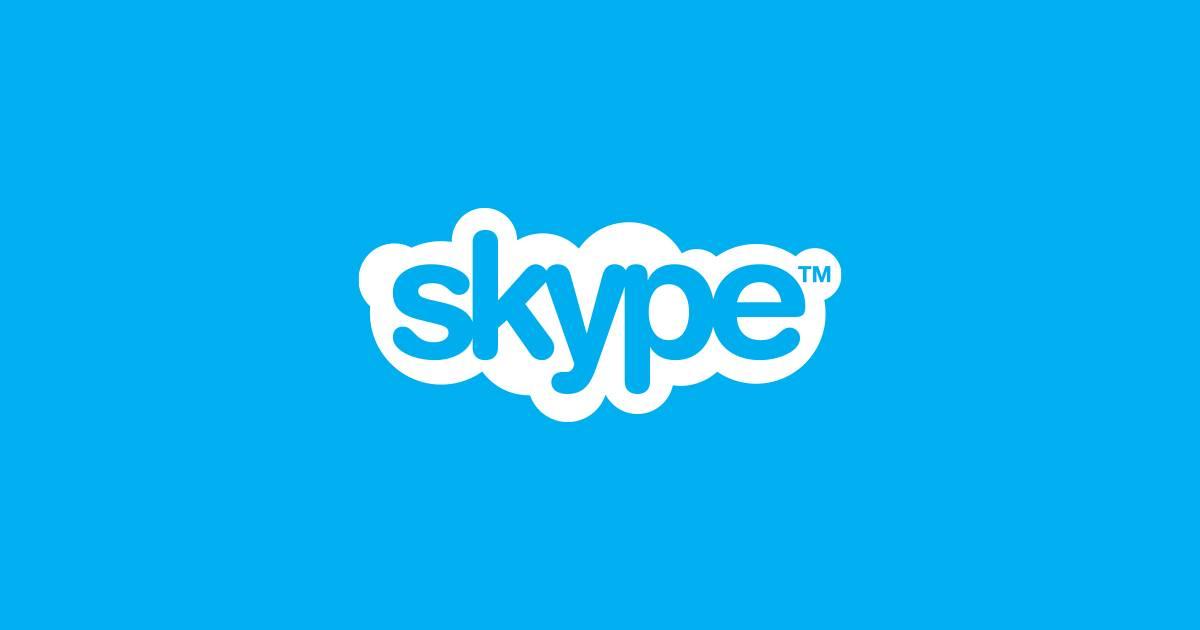 Logotipo de Skype, el servicio de mensajería y llamadas de Microsoft