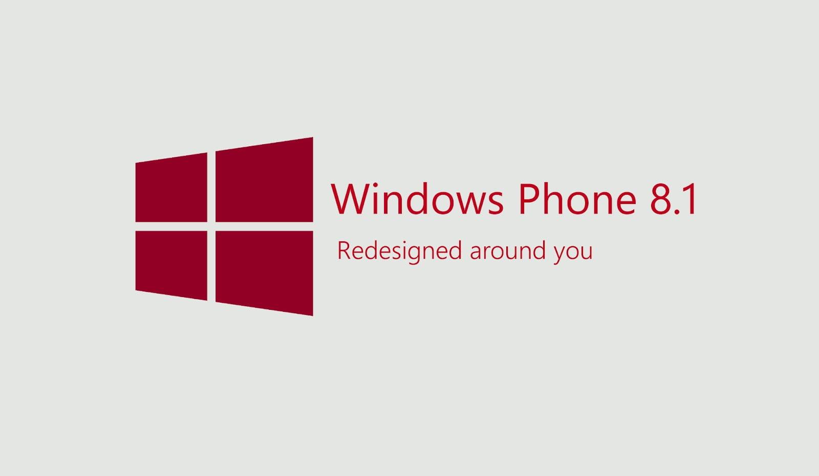 Logo de Windows Phone 8.1, rediseñado a tu alrededor