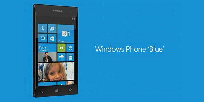 Windows Phone Blue fondo Azul