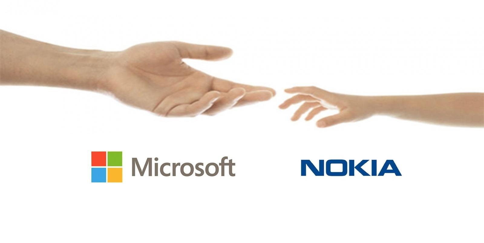 Imagen que simboliza la unión de Nokia y Microsoft