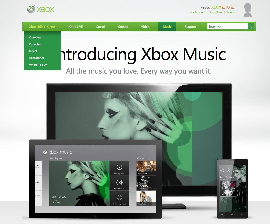 Introduciendo Xbox Music
