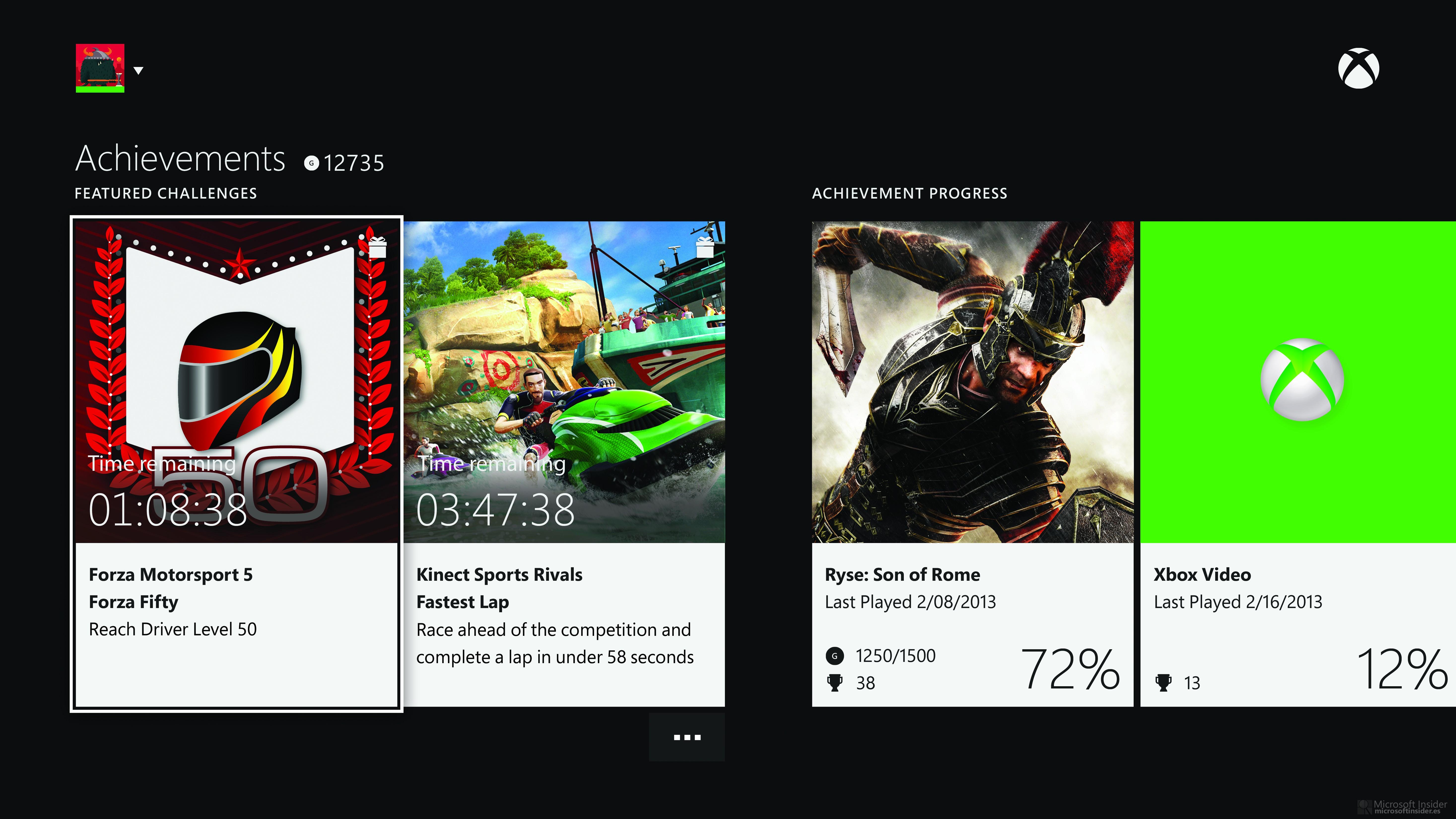 Xbox One y sus logros