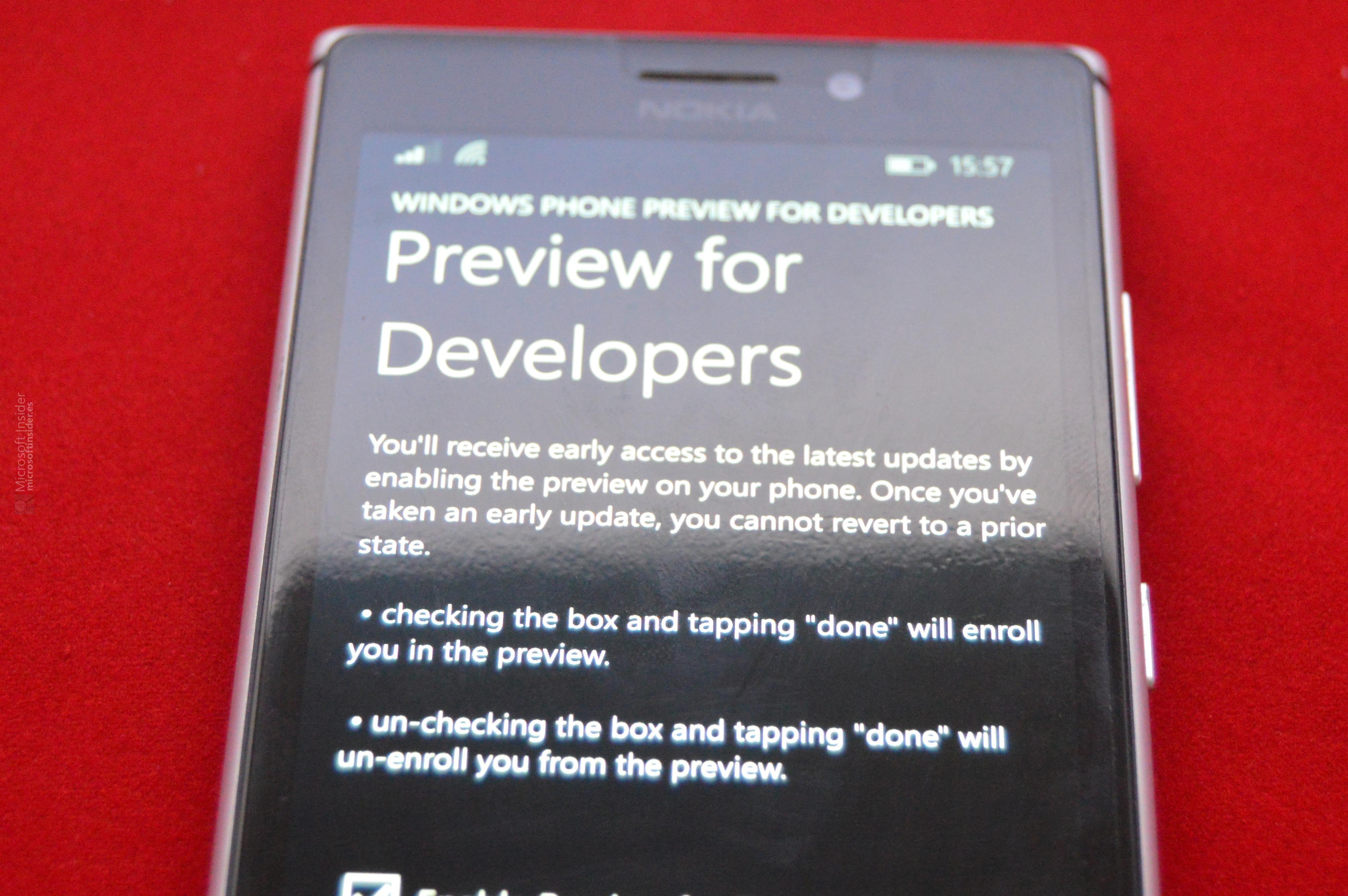 Lumia Cyan en la Preview