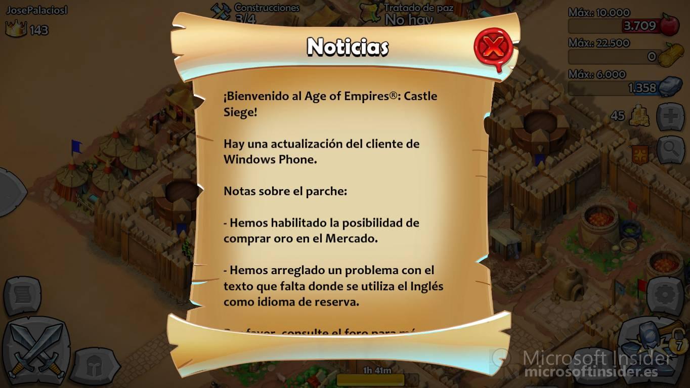 Age of Empires actualiza Window Phone