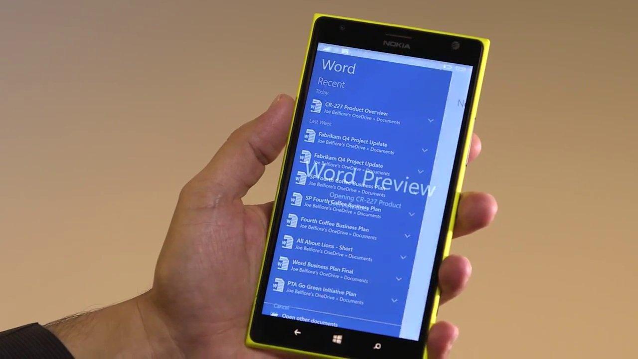 Aplicación de Word para Windows 10