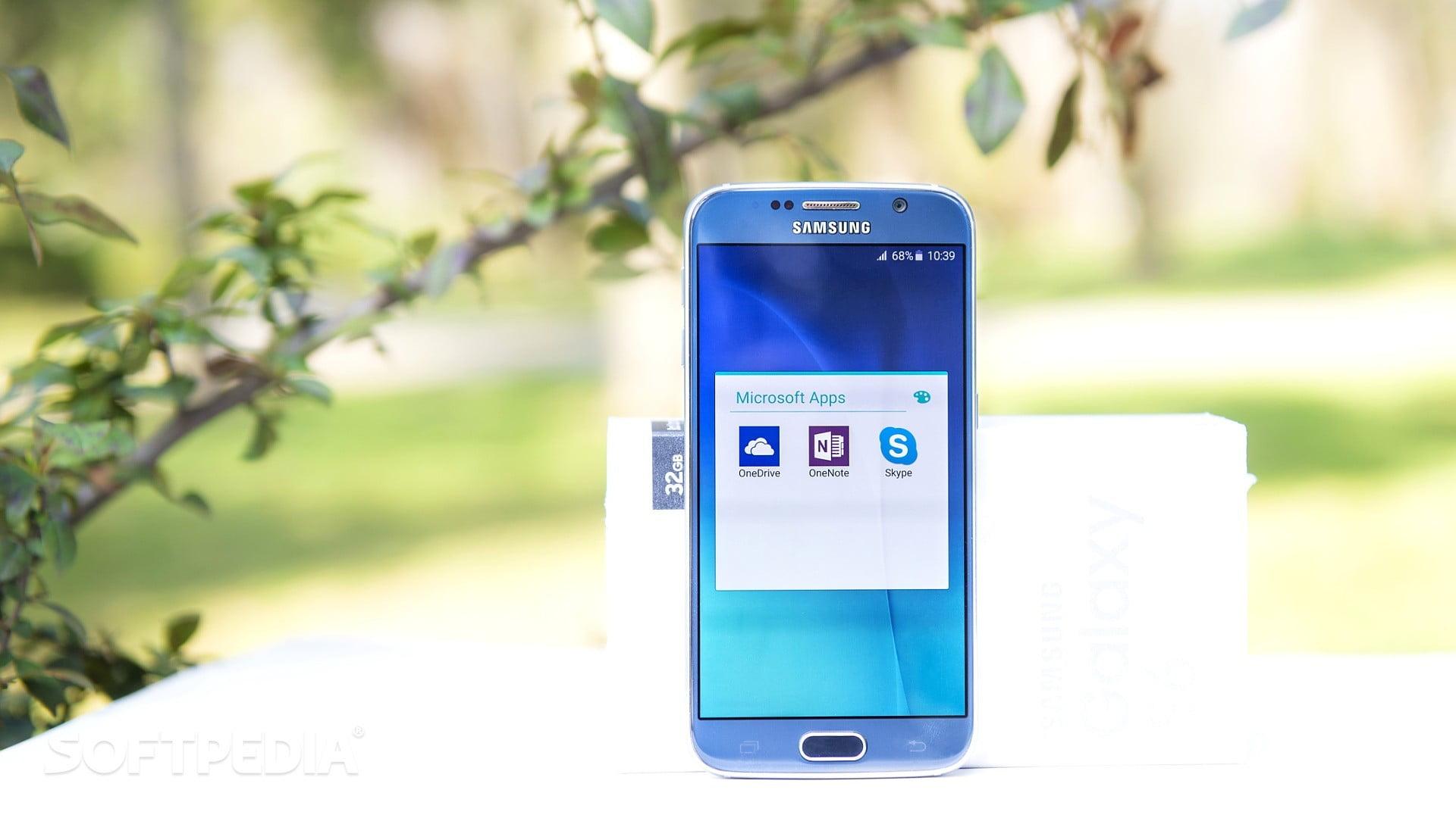 Samsung Galaxy S6 con Microsoft Apps