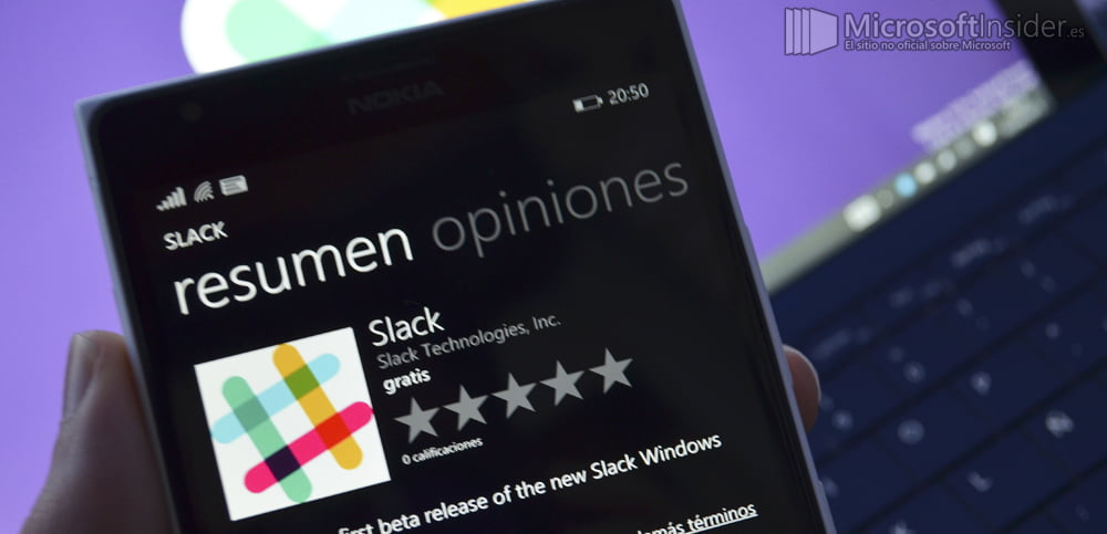 Slack para Windows Phone