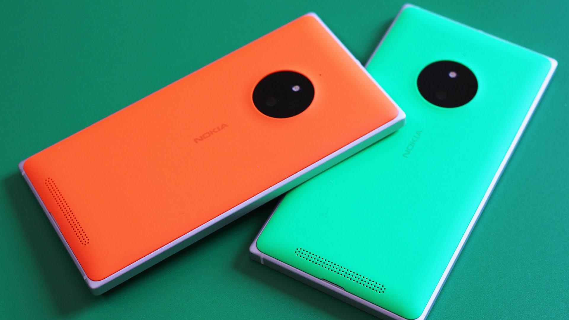 Lumia 830 naranja y Lumia 830 verde