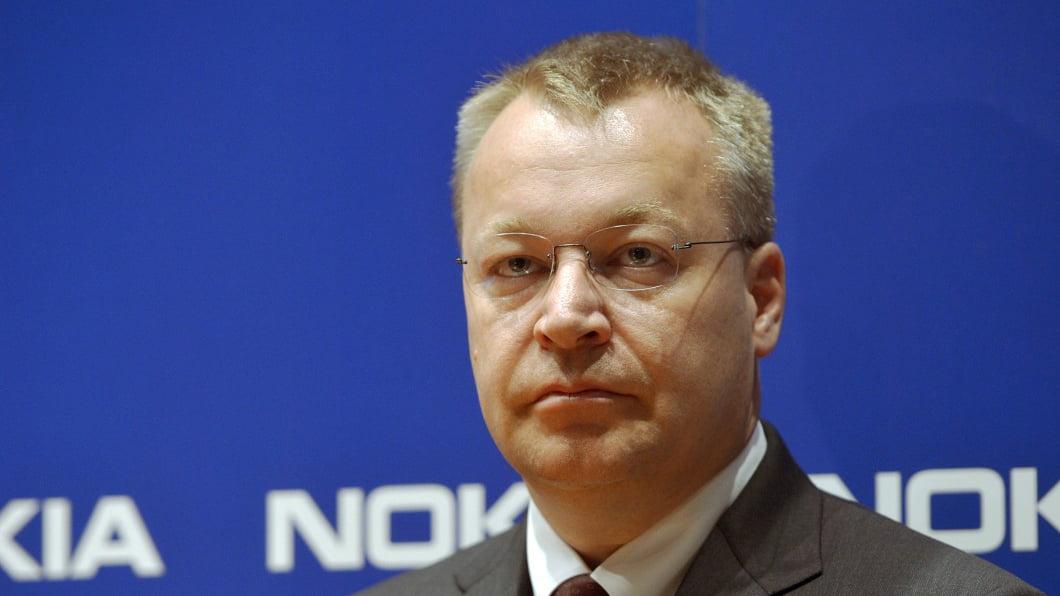 Stephen Elop en una rueda de prensa cuando presidia Nokia