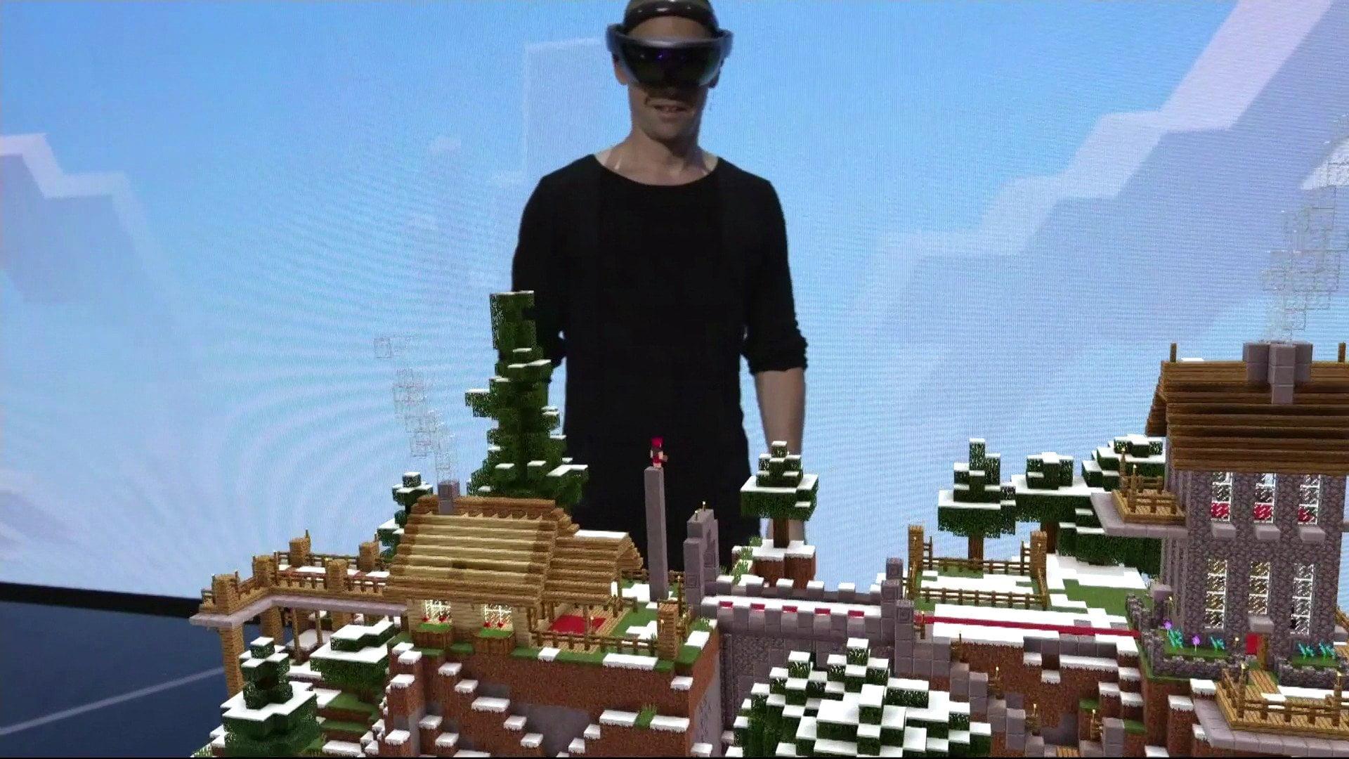 La demo de Minecraft en Hololens en el E3
