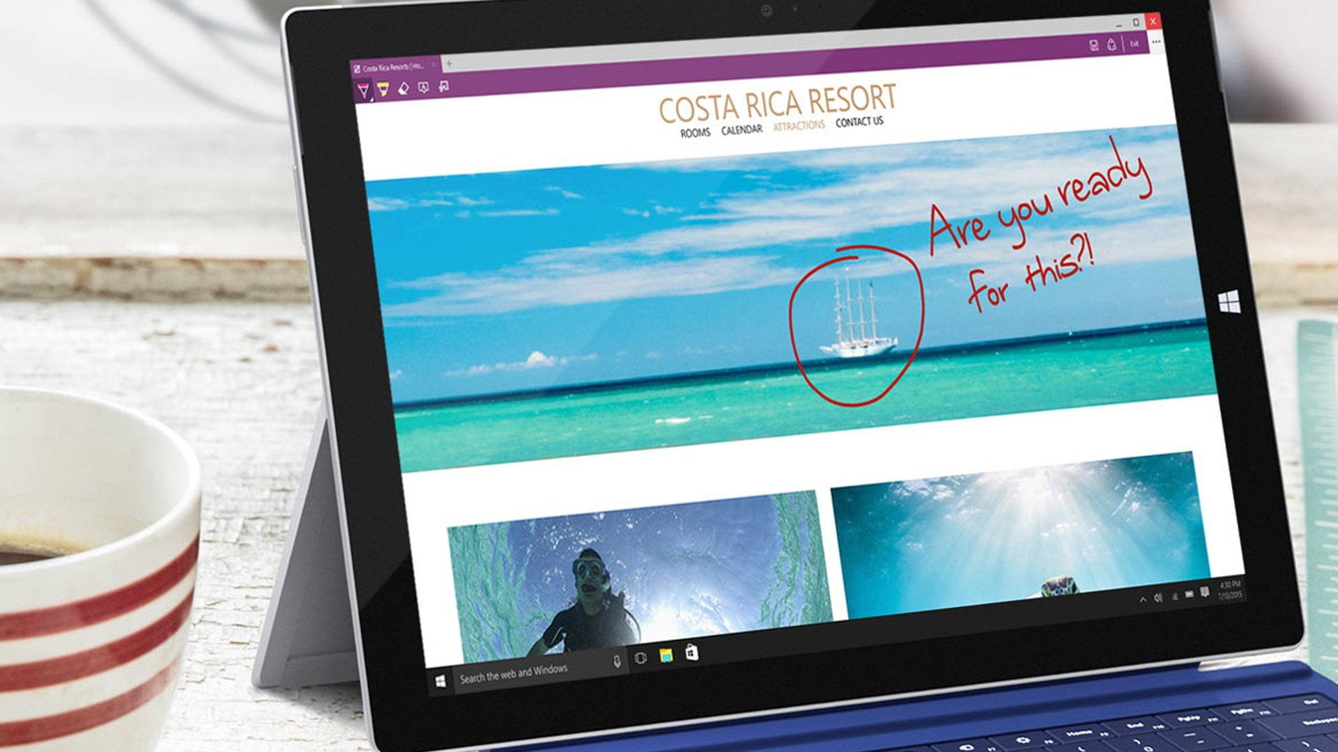Surface Pro 3 con Microsoft Edge