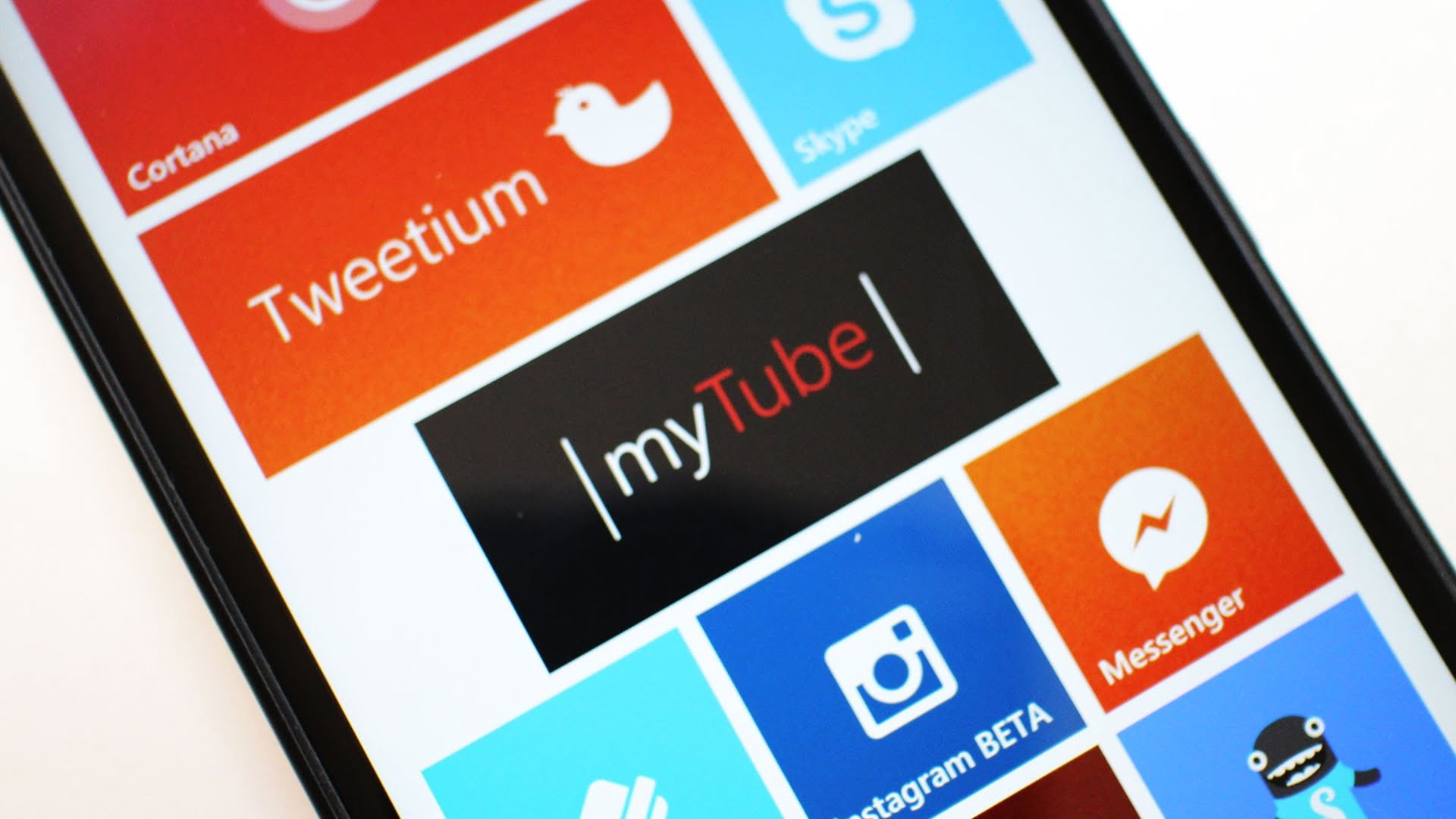 Lumia con Tile de myTube