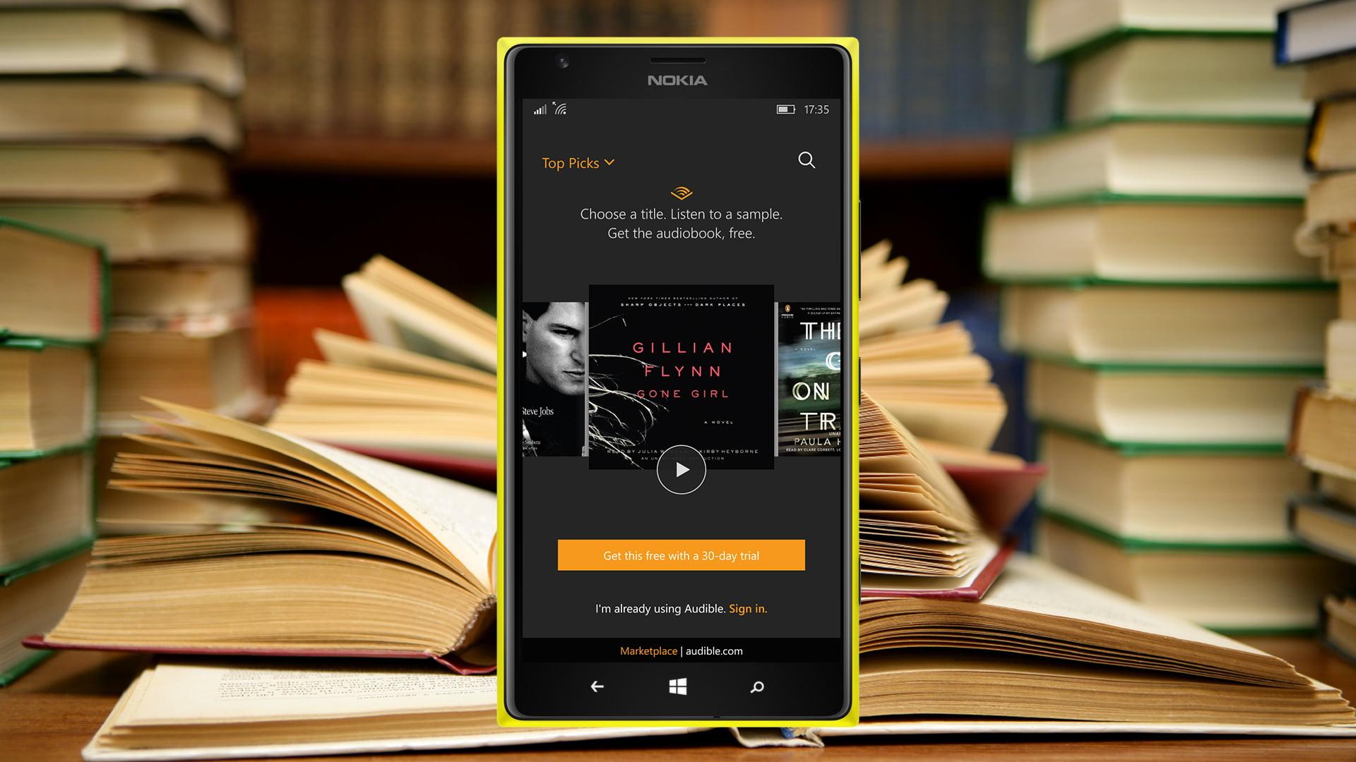Windows 10 ya tiene una nueva app de Audible