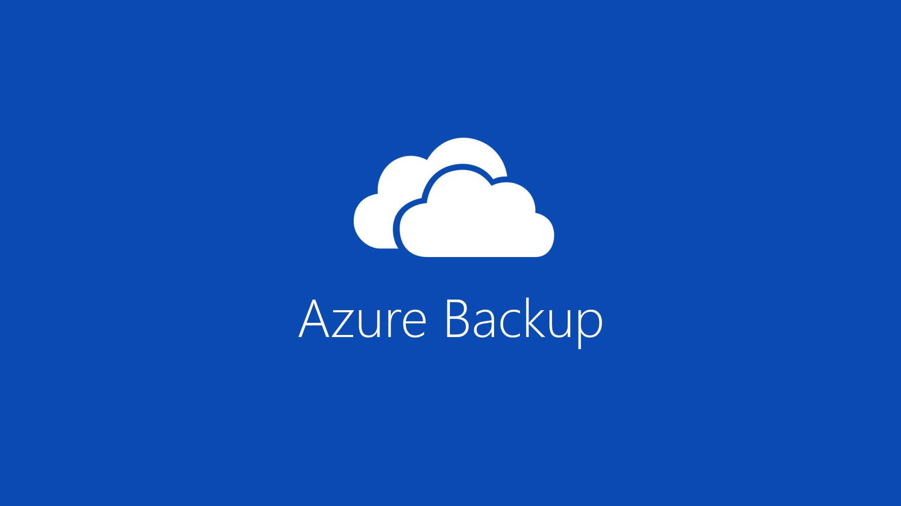 Usa Azure Backup con Windows 10