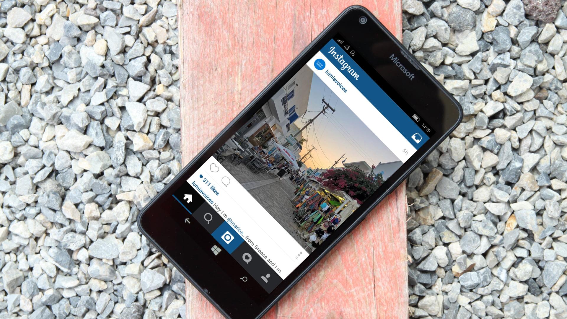 Instagram de Android corriendo en Windows 10 Mobile
