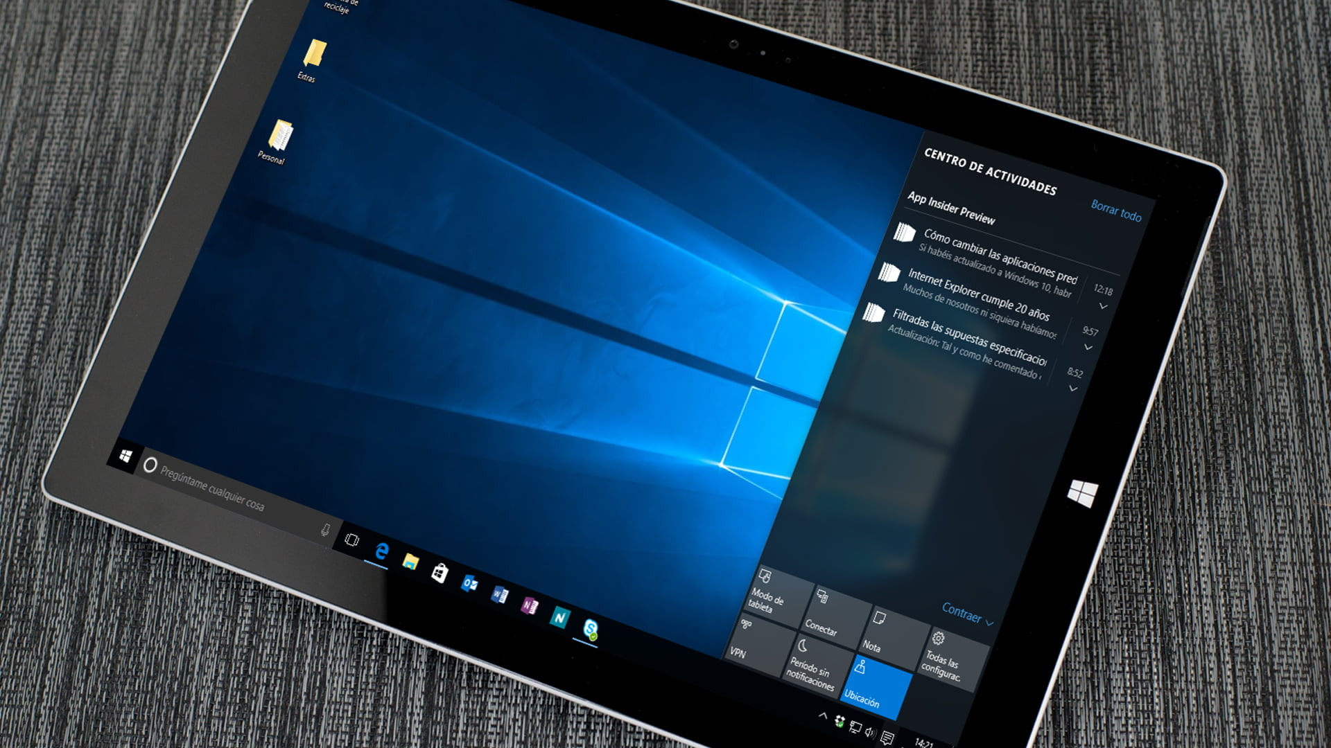 El centro de notificaciones en Windows 10