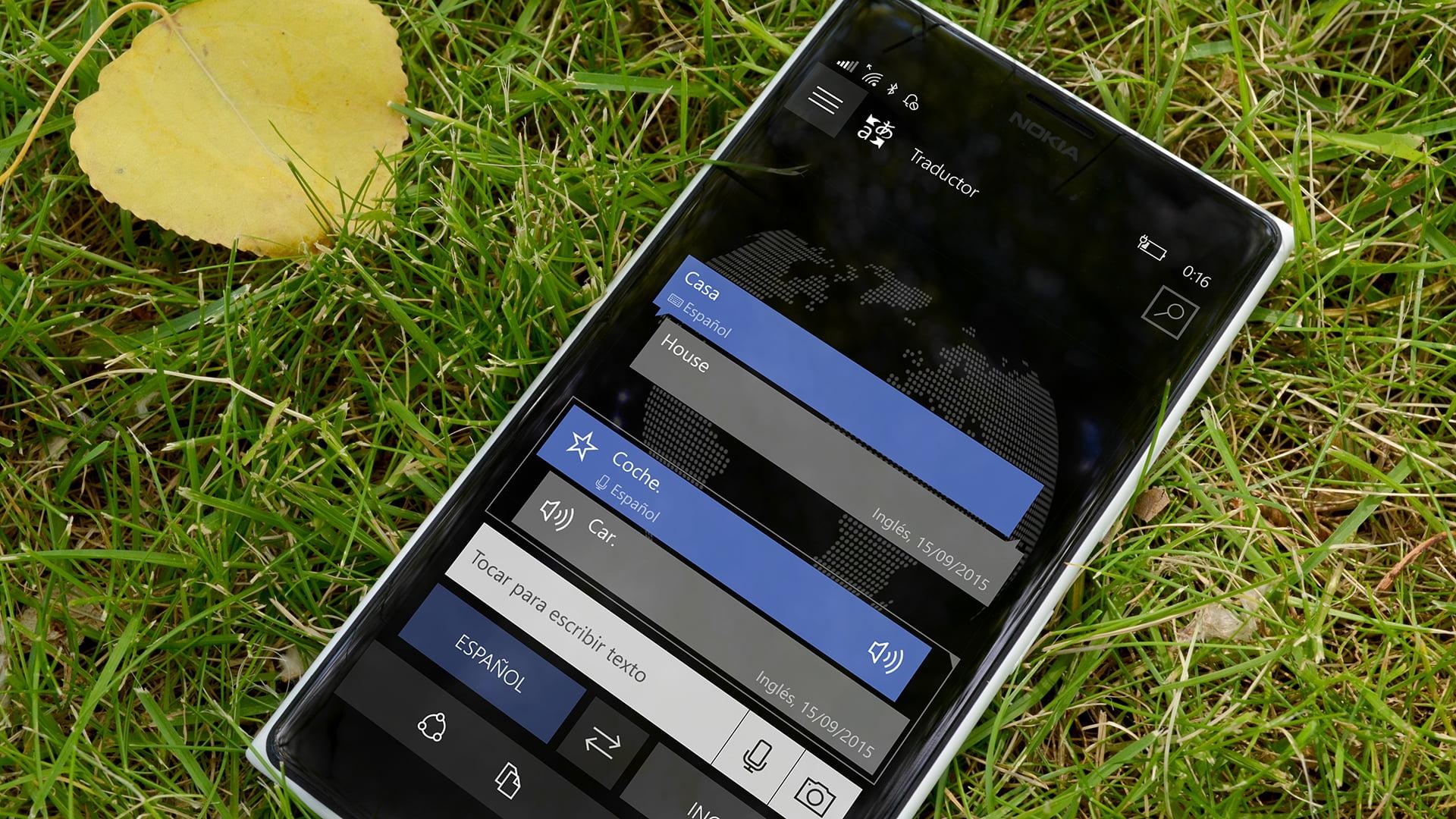 Traductor en un Lumia 1520