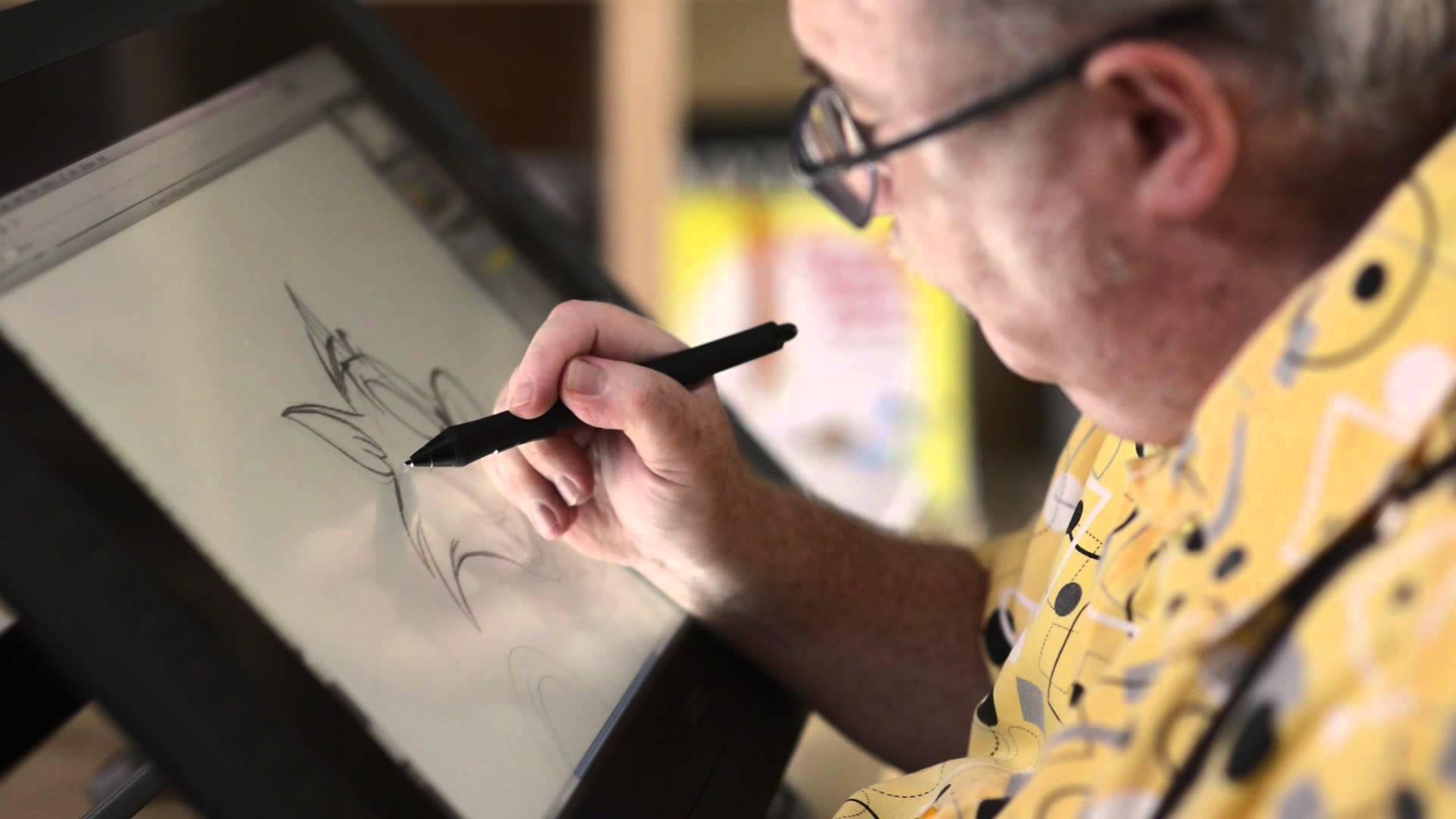 Eric Goldberg dibujando