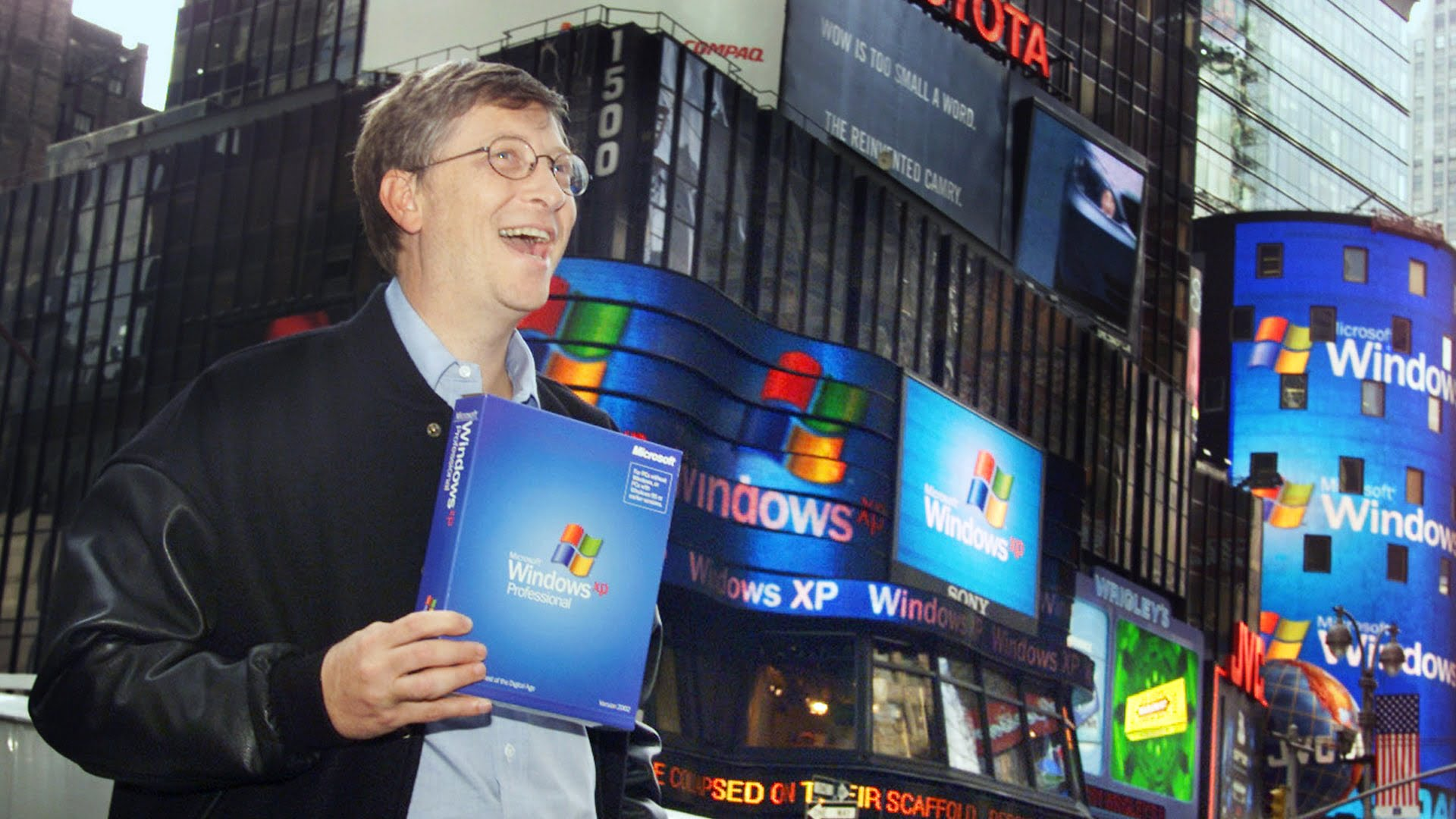 Bill Gates promocionando a Windows XP