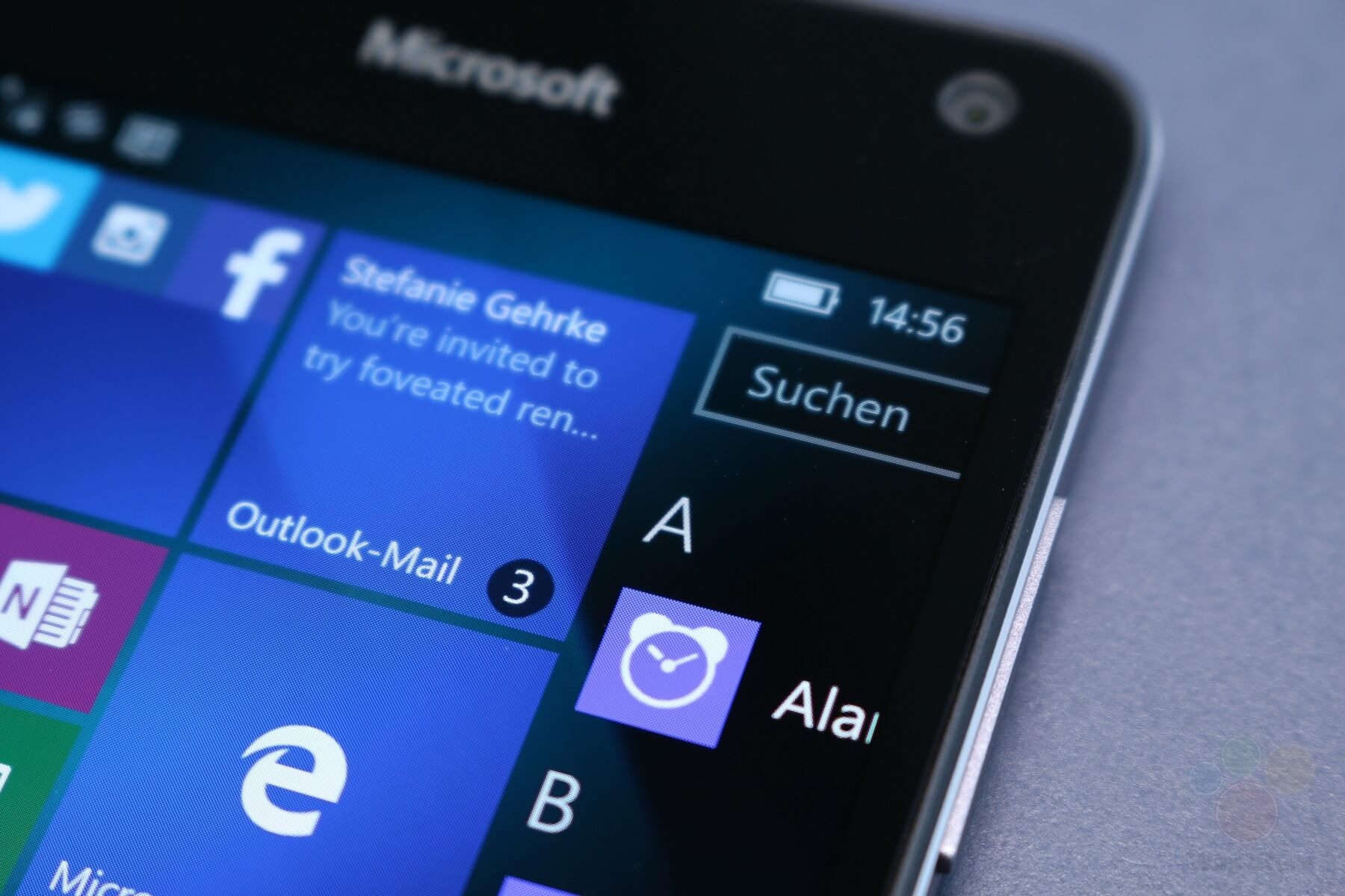 Imagen macro del Lumia 650