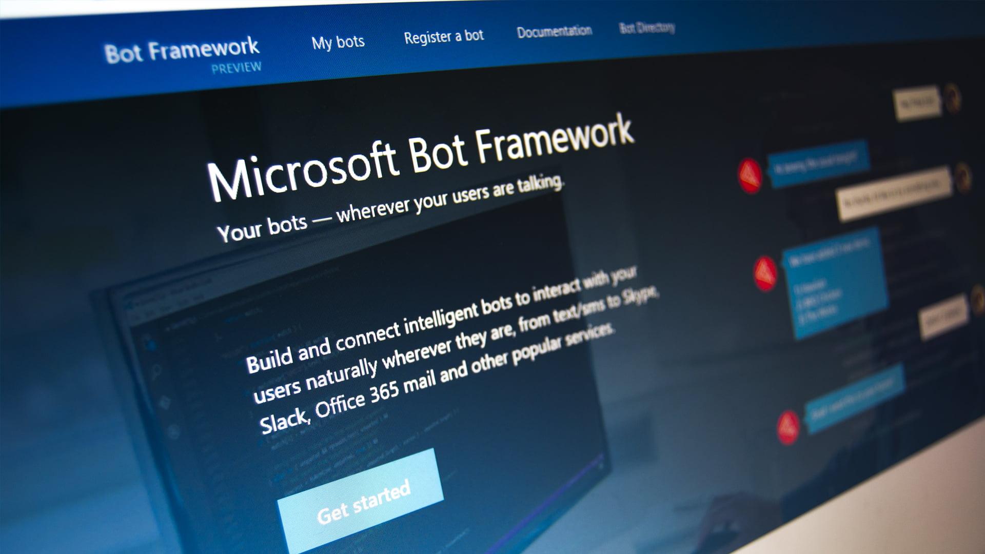 Web del Bot Framework
