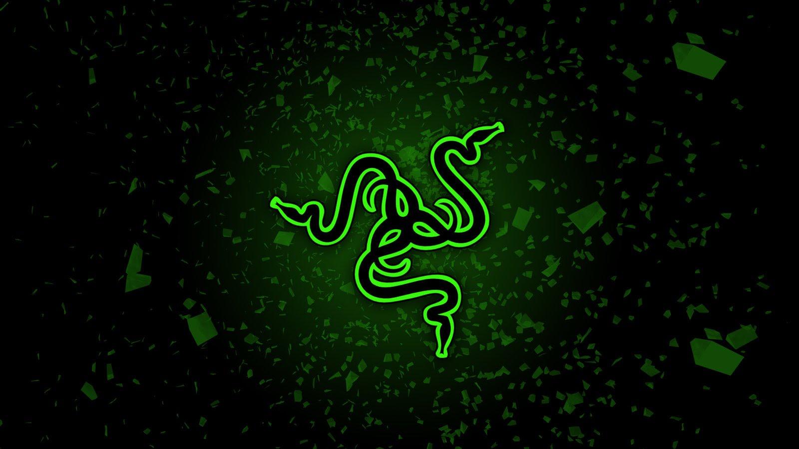 Logo de la firma Razer en verde