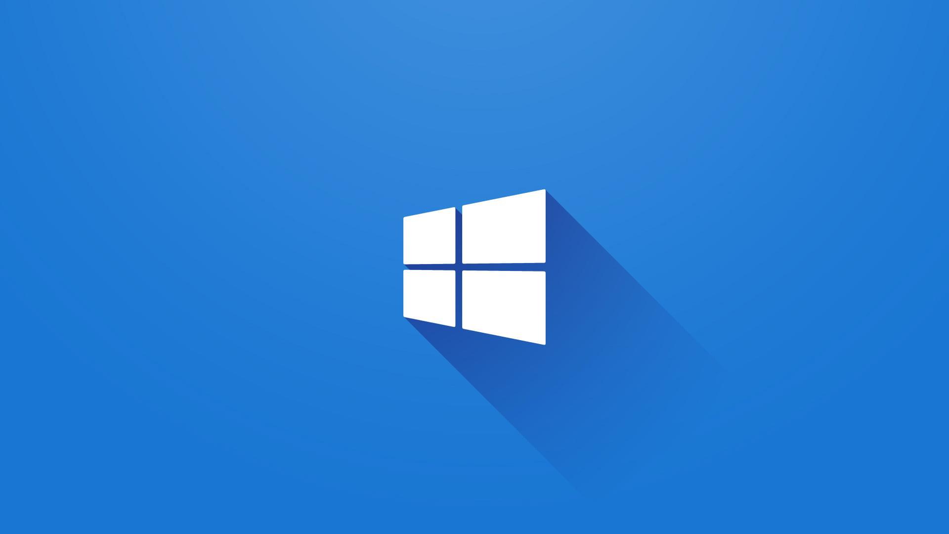 Logo de Windows con aspecto tridimensional y sombra