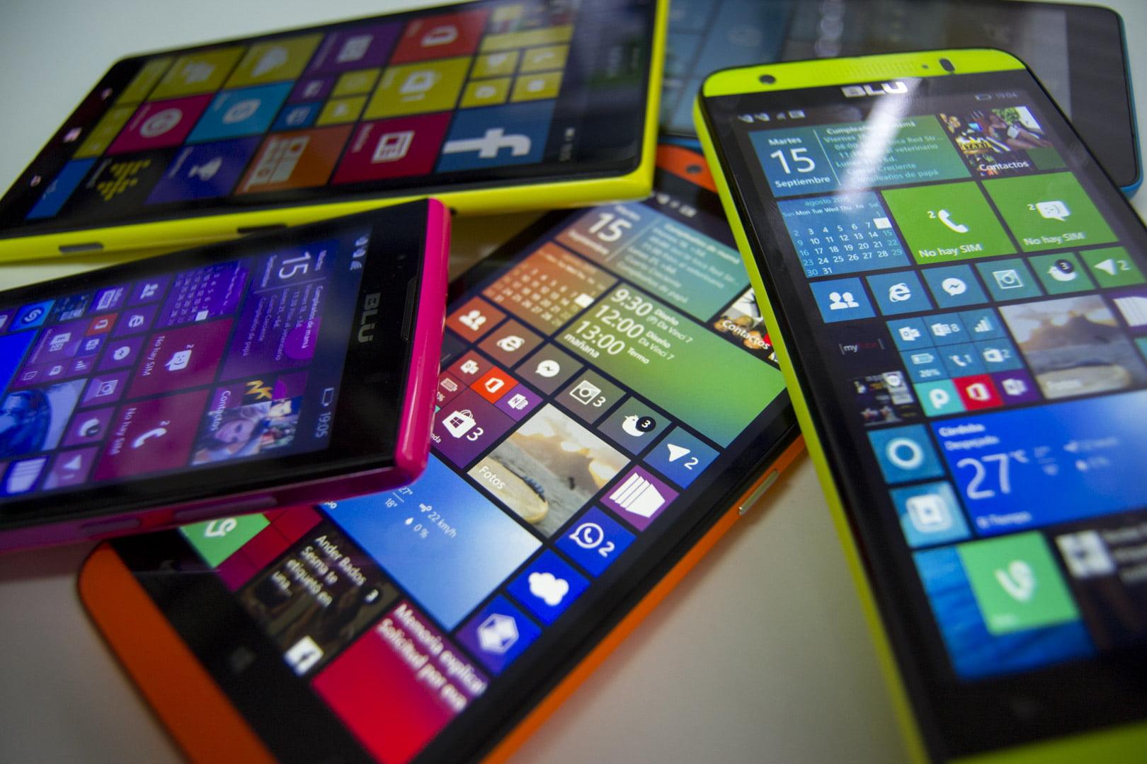 Varios teléfonos Windows Phone
