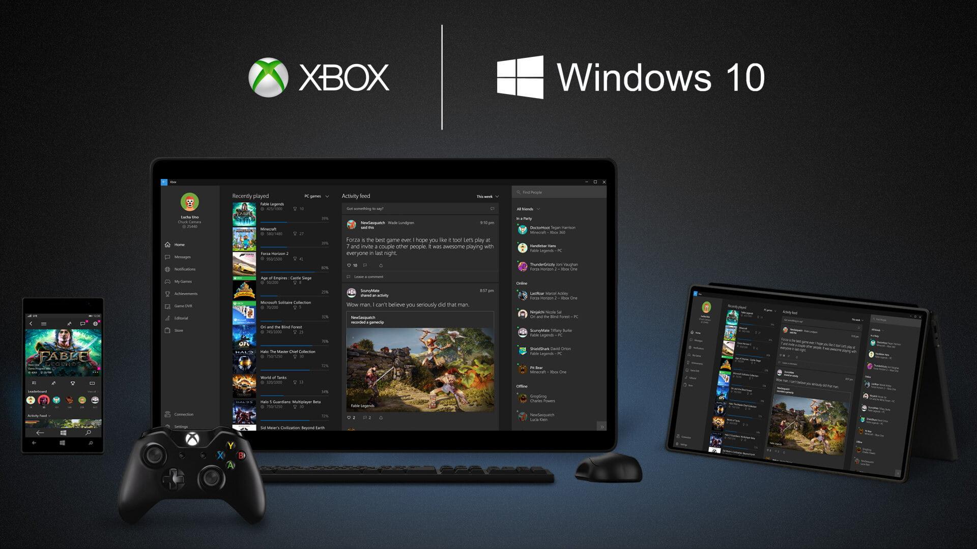 Ecosistema Windows 10 en Xbox