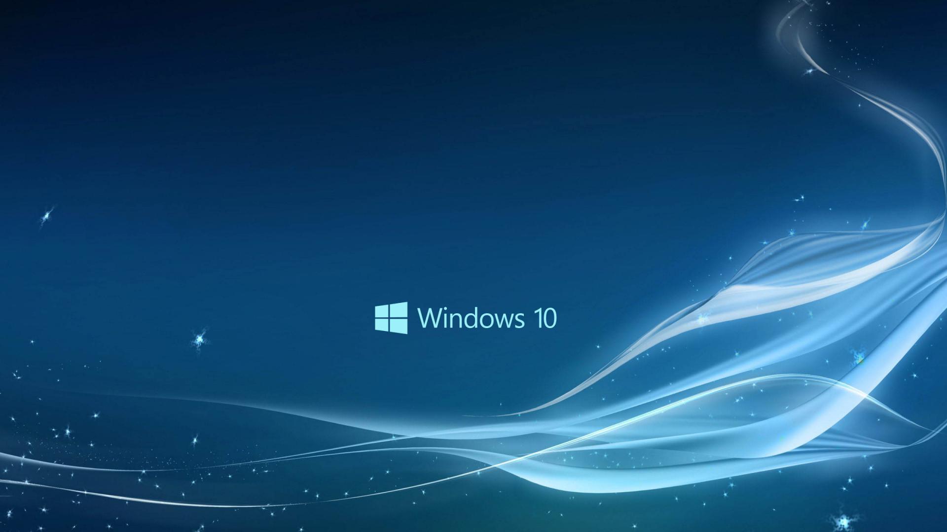 Fondo con el logo de Windows 10