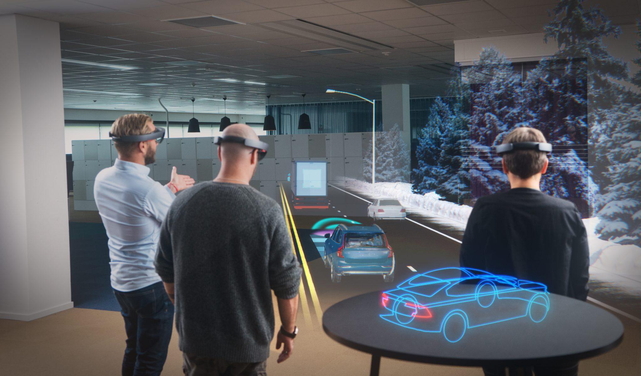 Hololens colaborando con Volvo para el diseño de vehículos