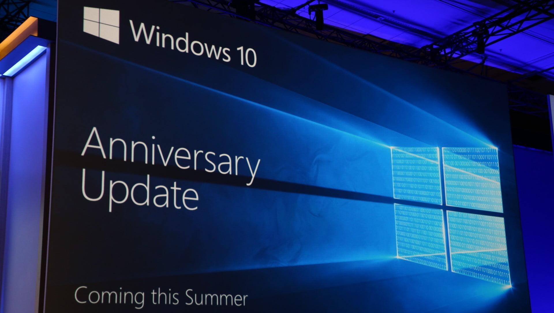 Presentación de la Anniversary Update