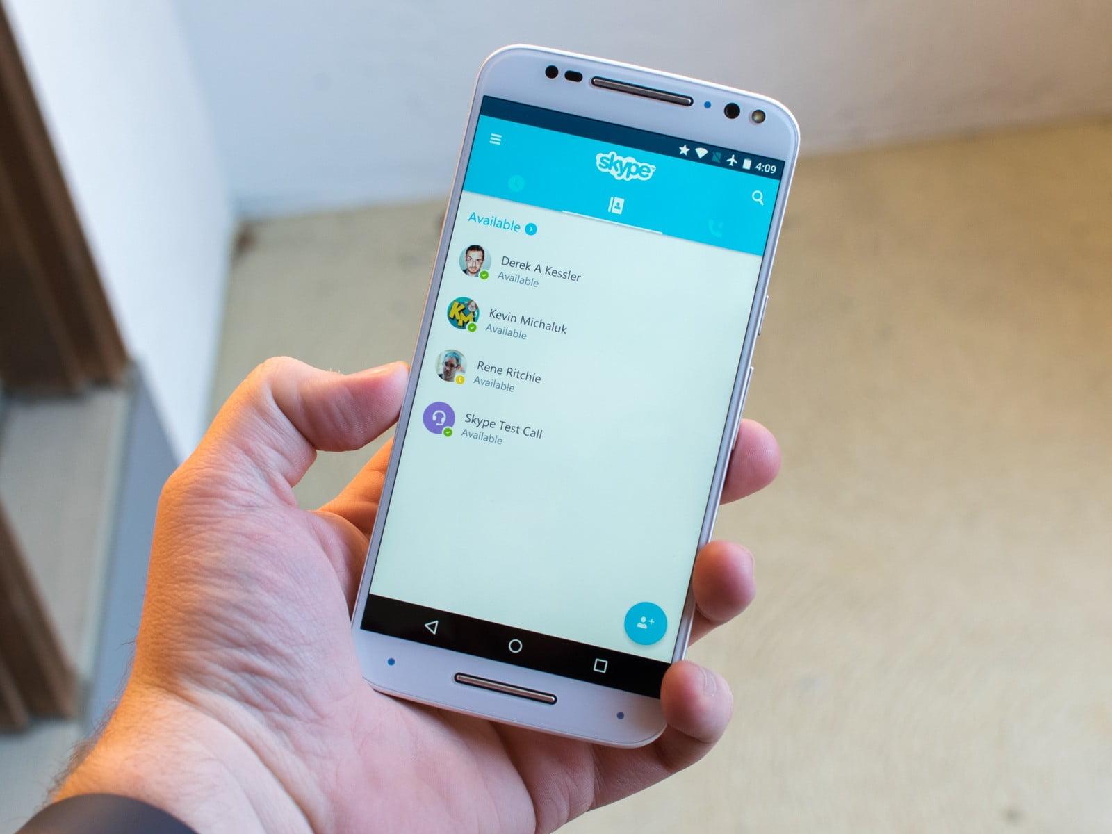Skype en un dispositivo android