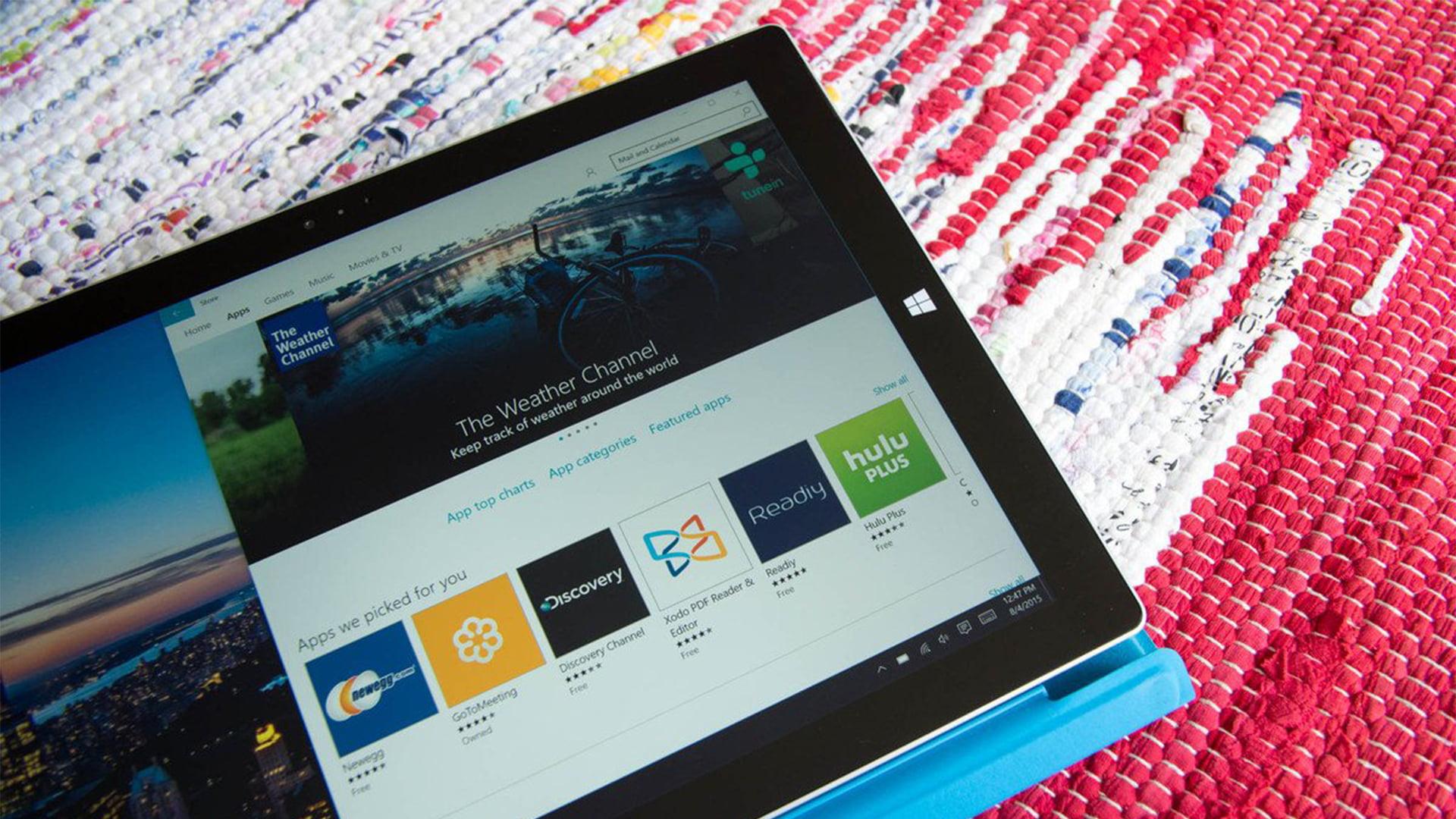 Surface Pro 3 con la tienda de Windows 10
