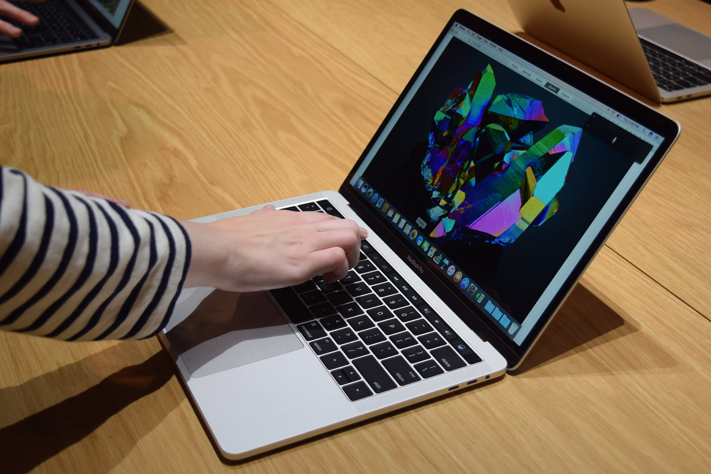 Touch Bar de un MacBook