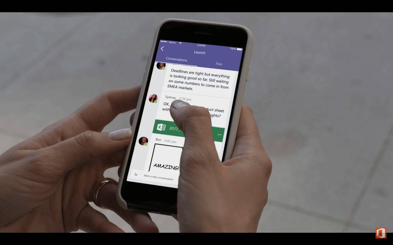 Microsoft Teams en smartphone