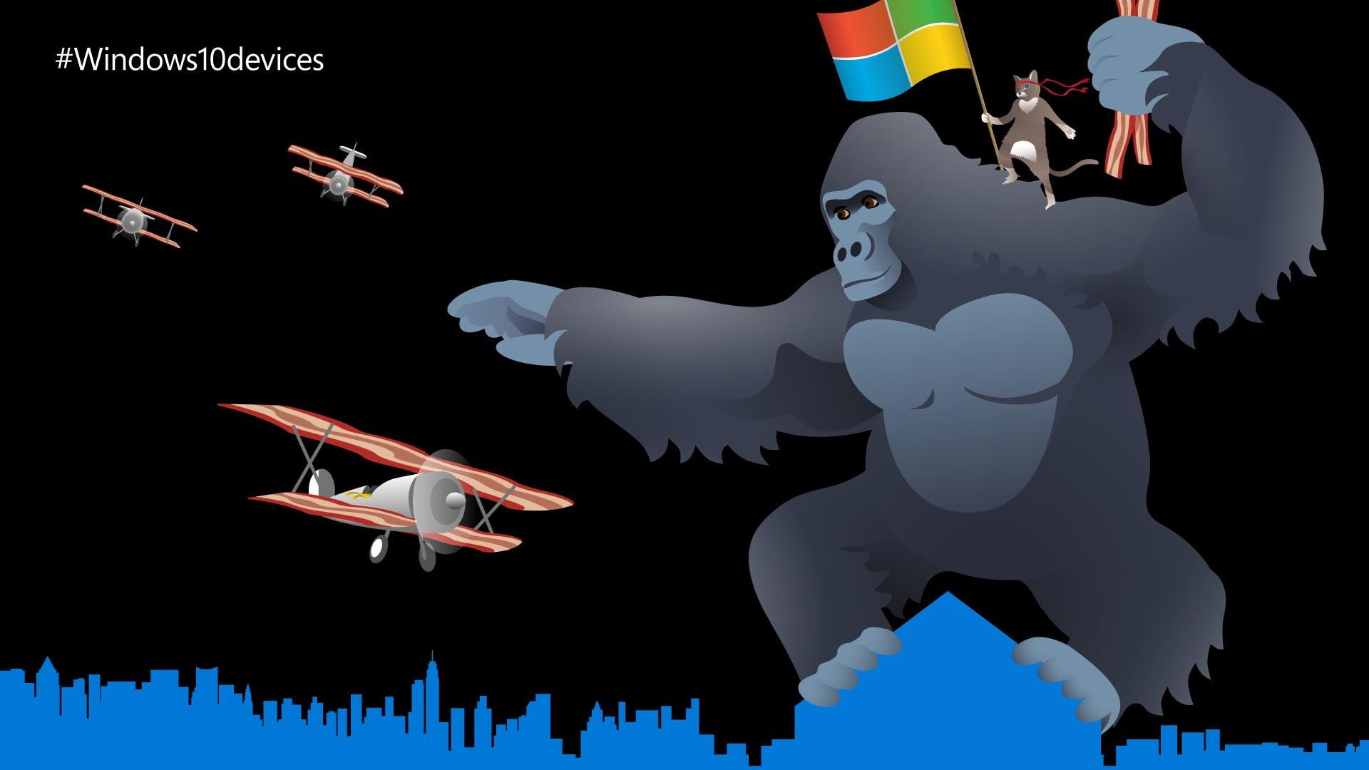 Gorila mascota del programa Insider