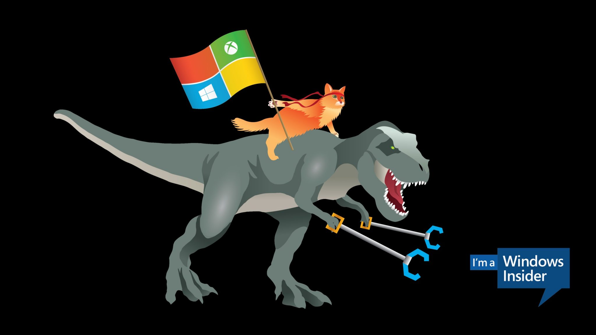 Dinosaurio y ninja cat