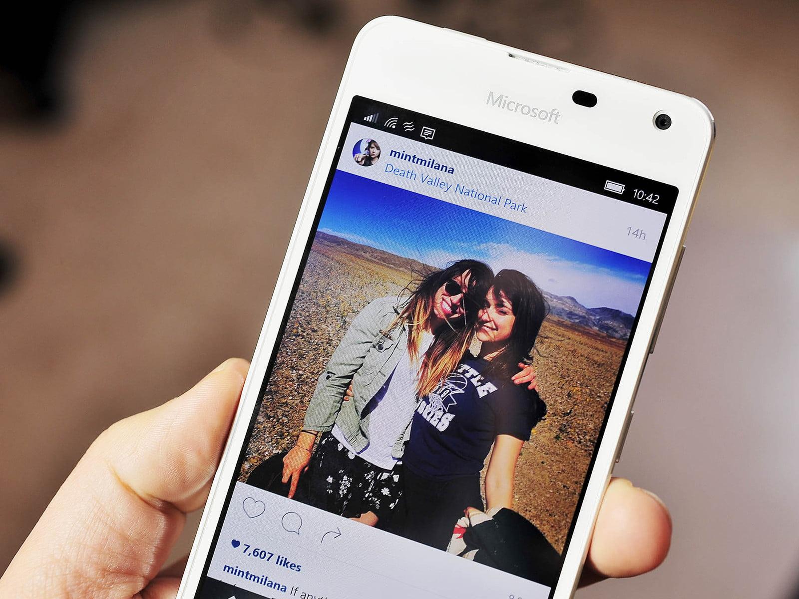Instagram en un Lumia 650