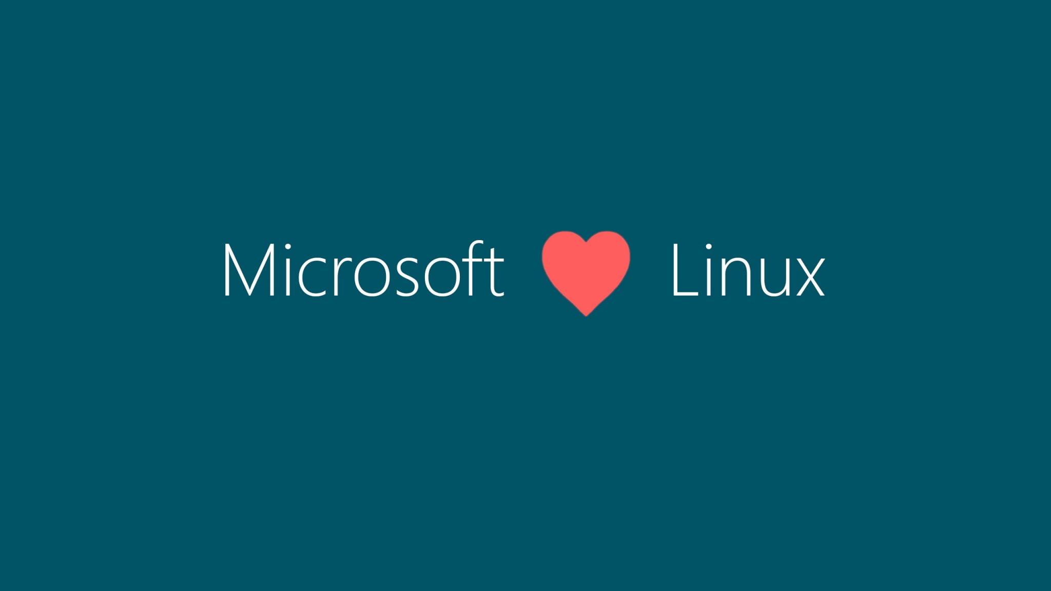 "Eslogan ""Microsoft loves Linux"""