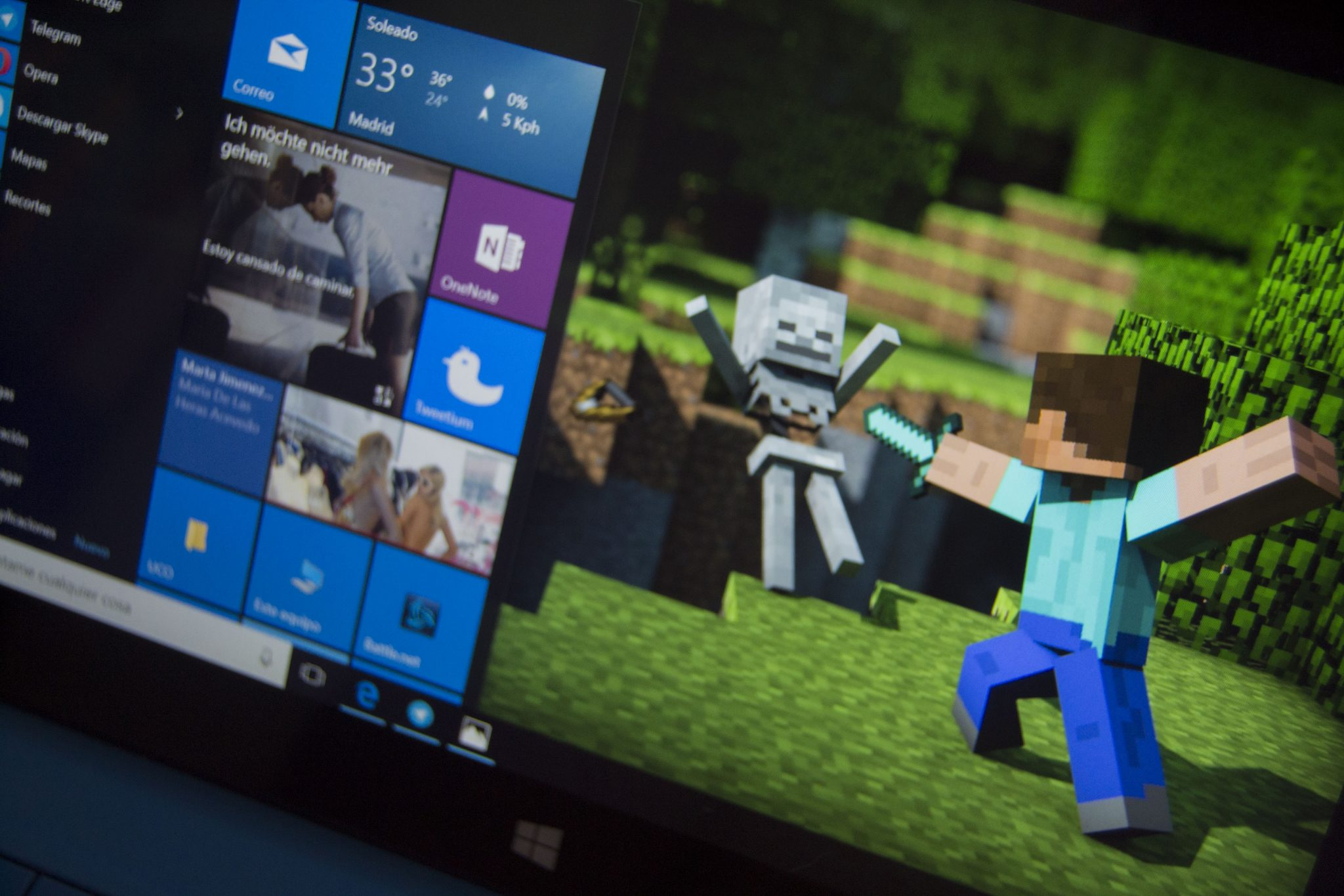 wallpaper de Minecraft para windows 10