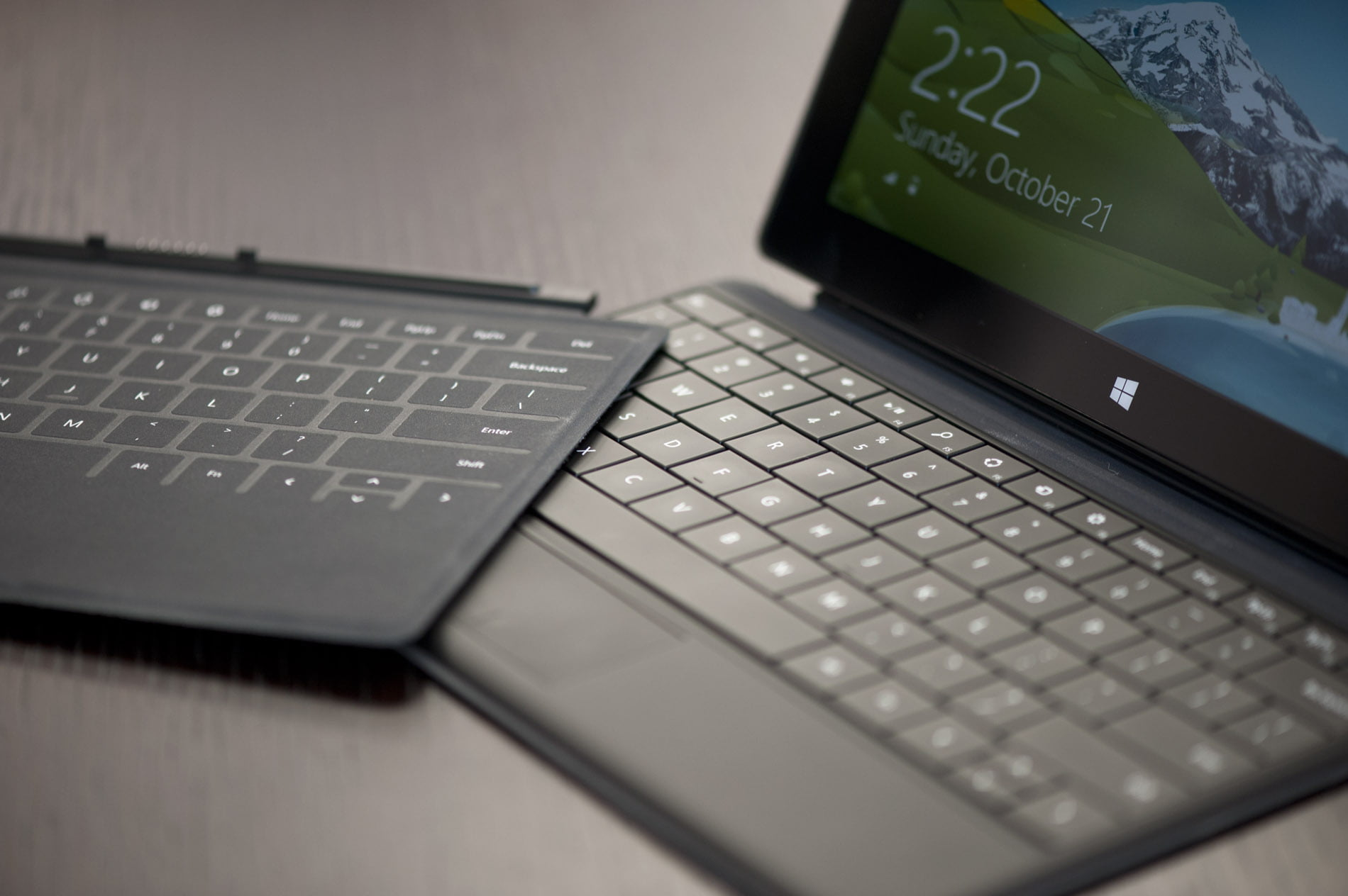 Type Cover de las Surface Pro