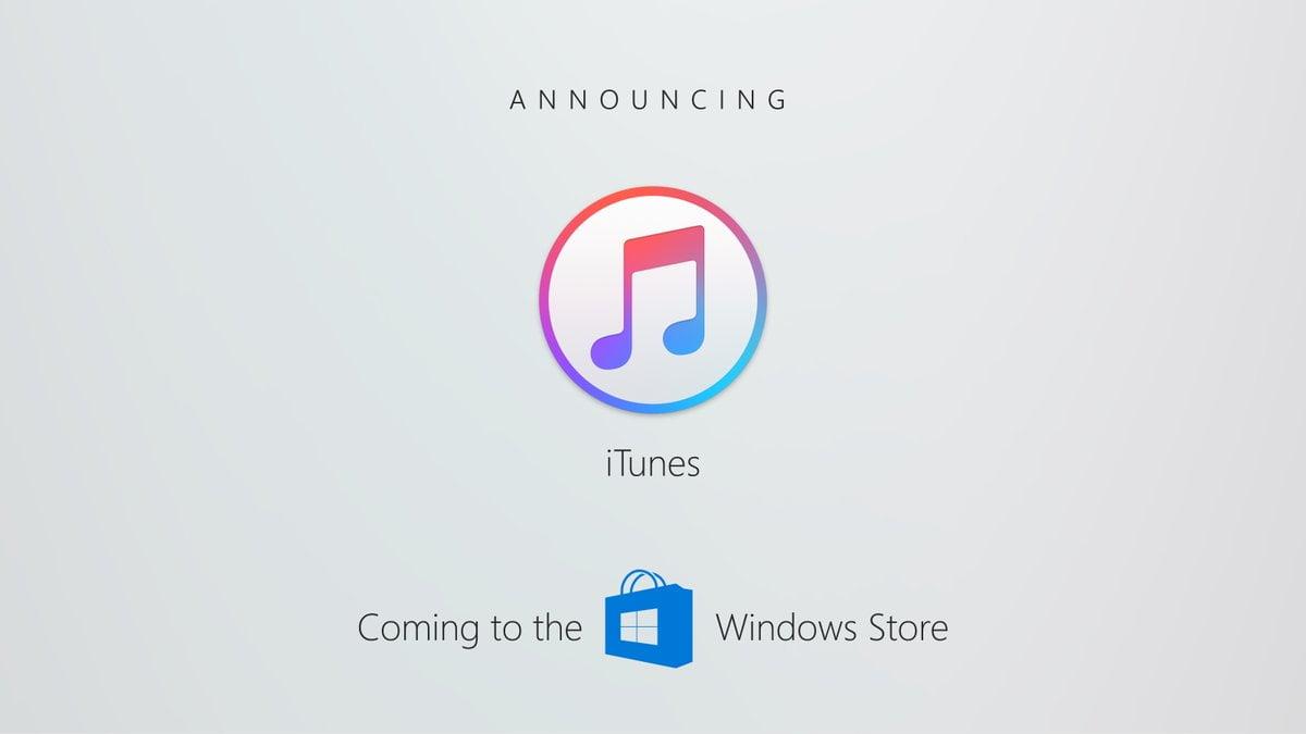 iTunes llega a la tienda de Windows