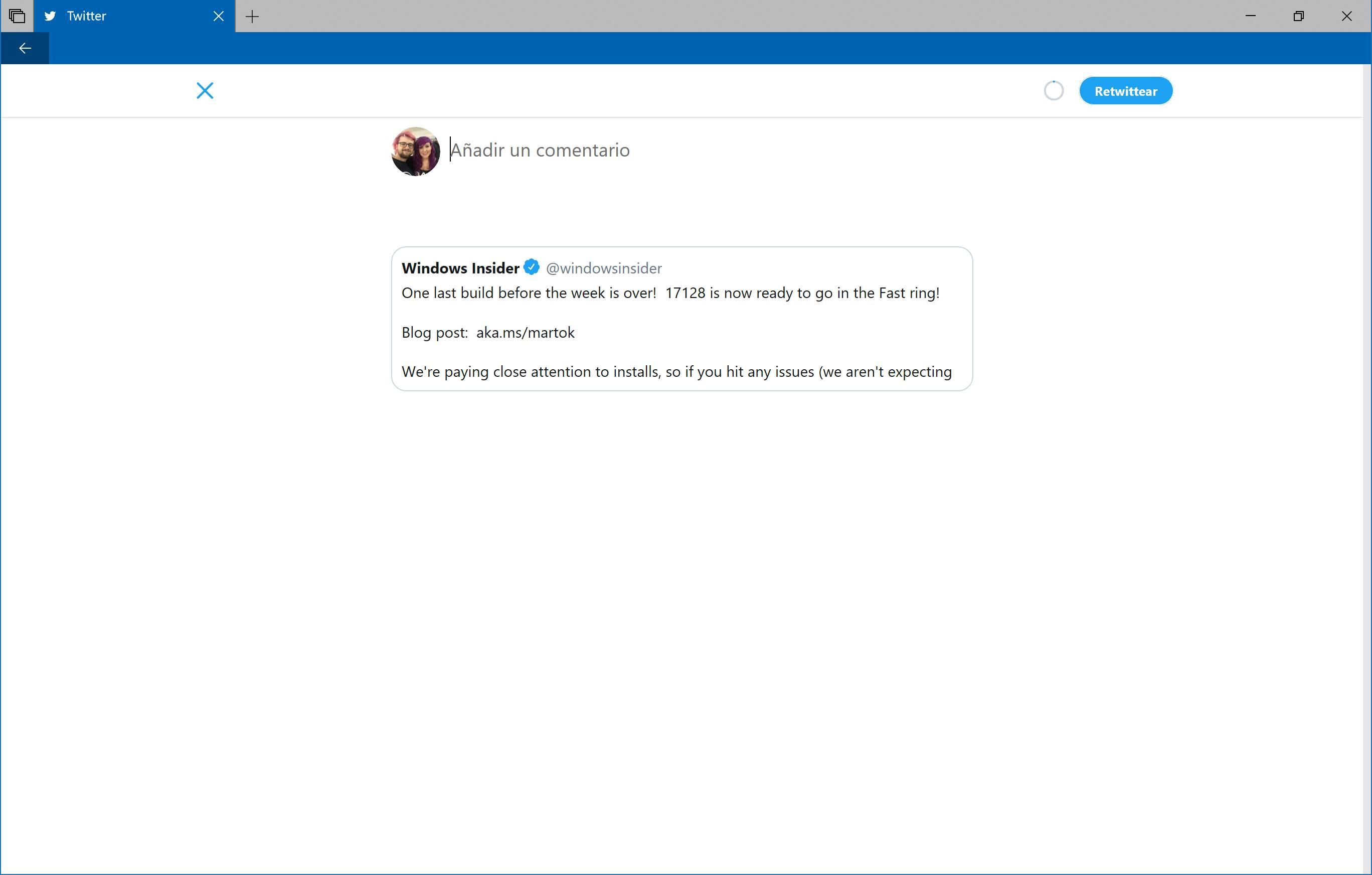 Twitter 6.0 citar tweet