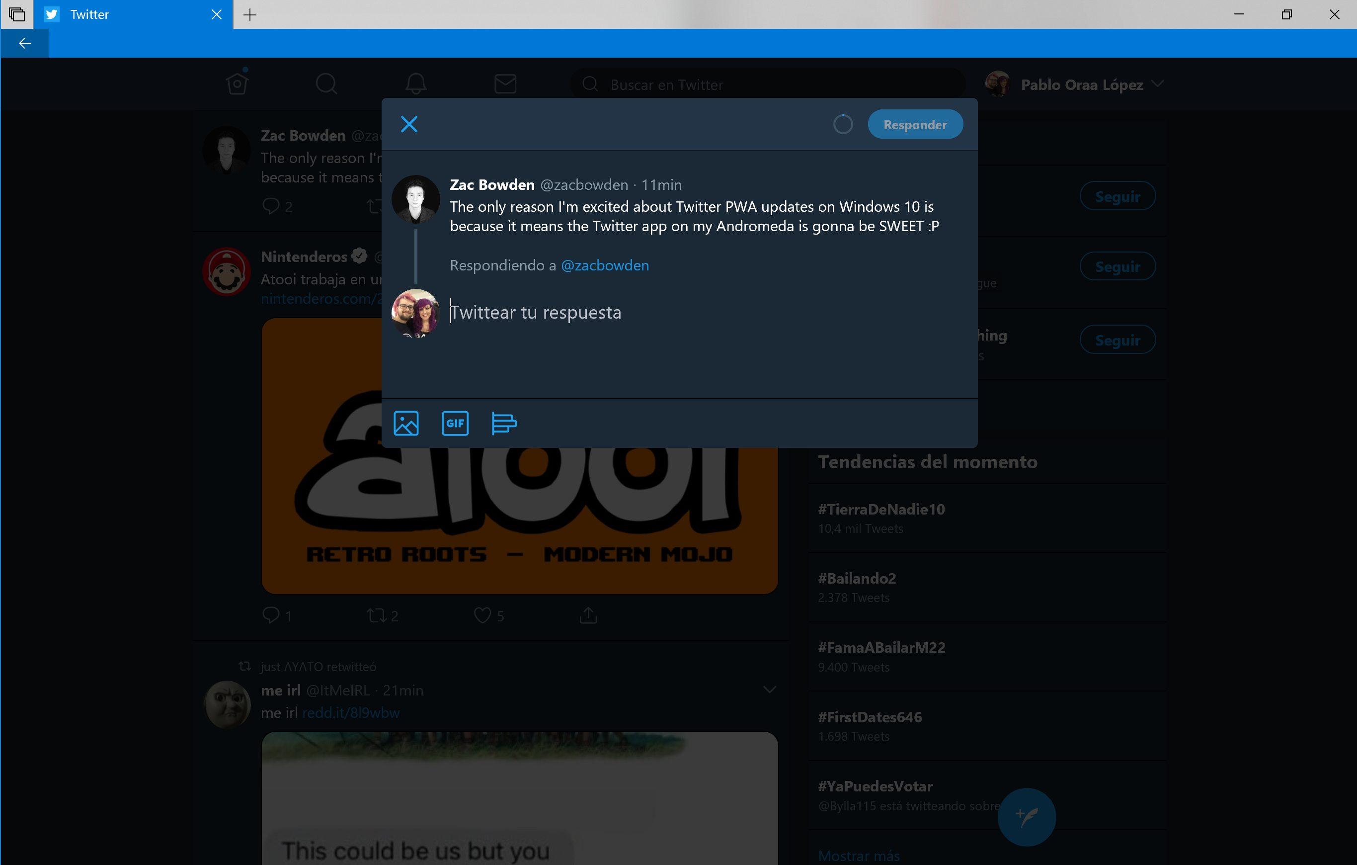 Nueva interfaz de creación de Tweet en Twitter