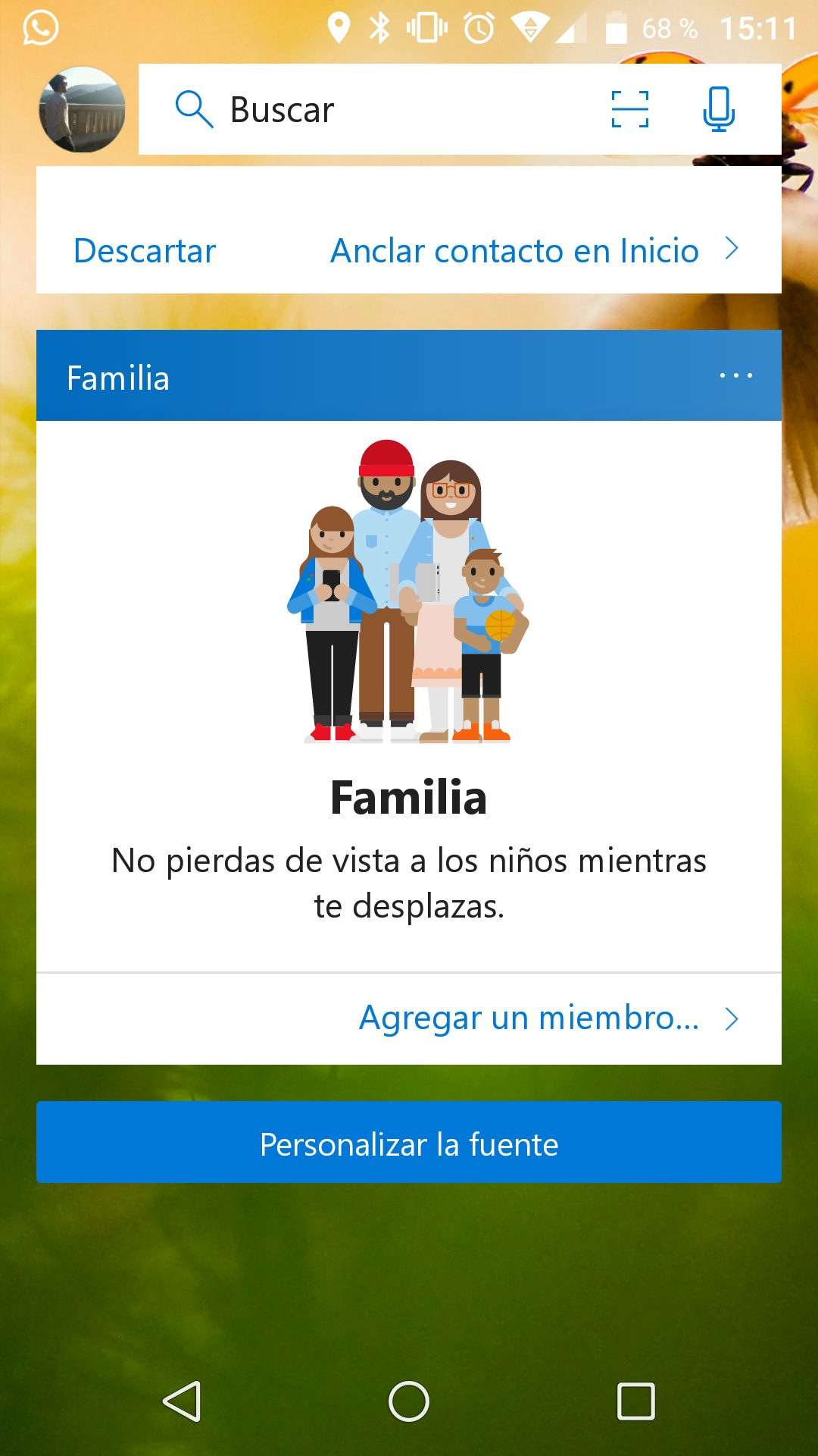 Feed Familia Microsoft Launcher