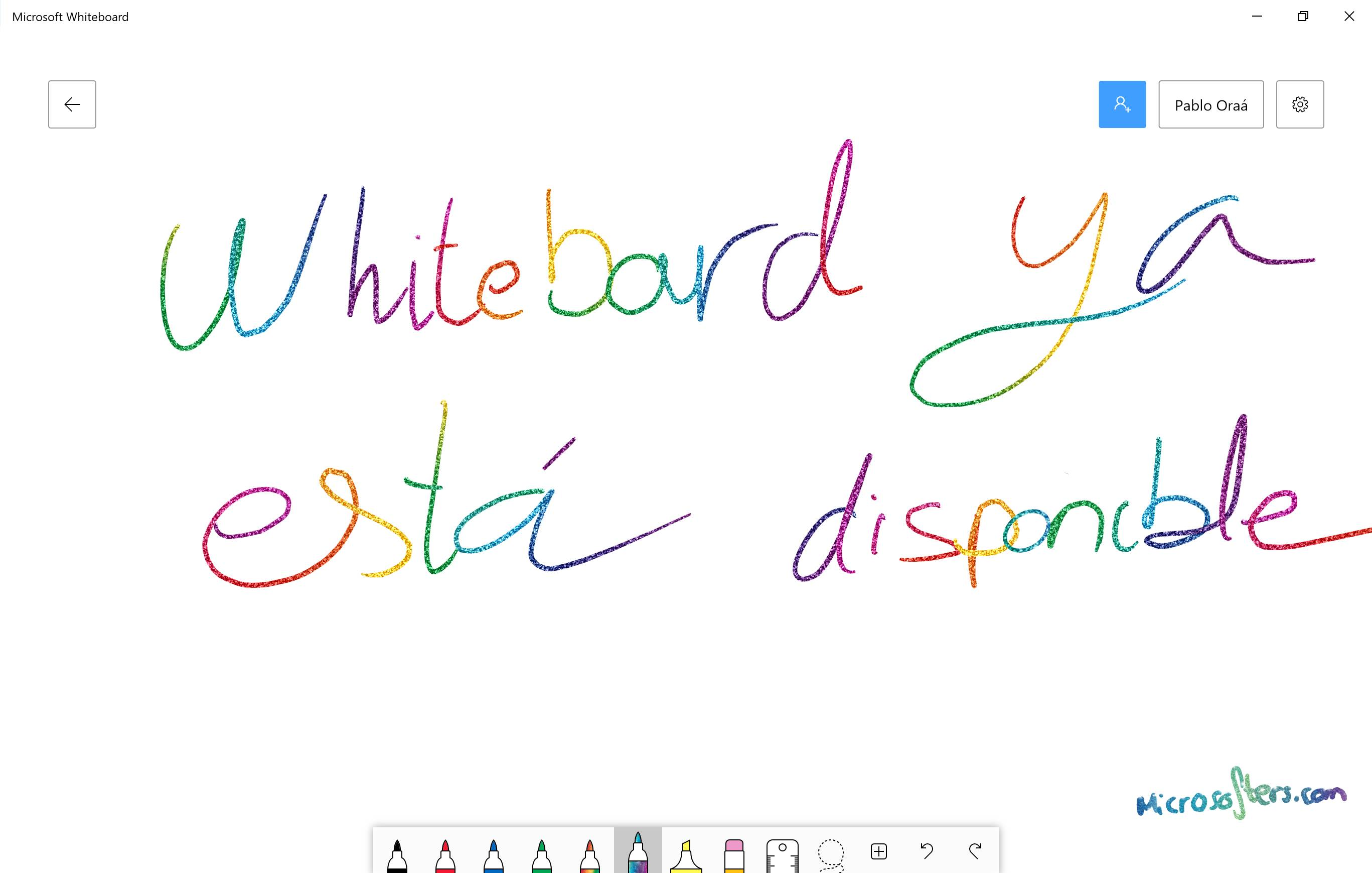 Whiteboard ya disponible