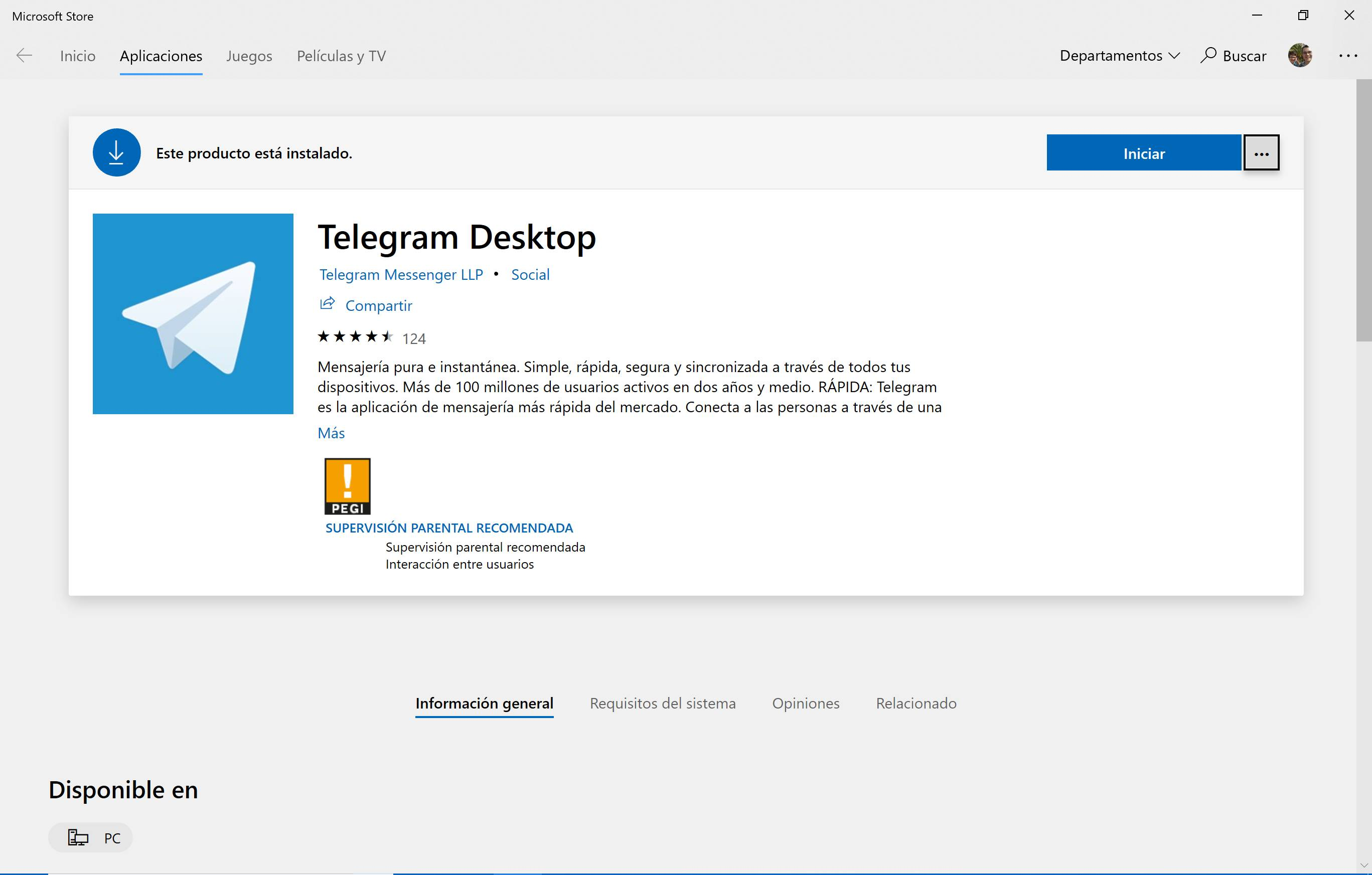Microsoft Store aplicación